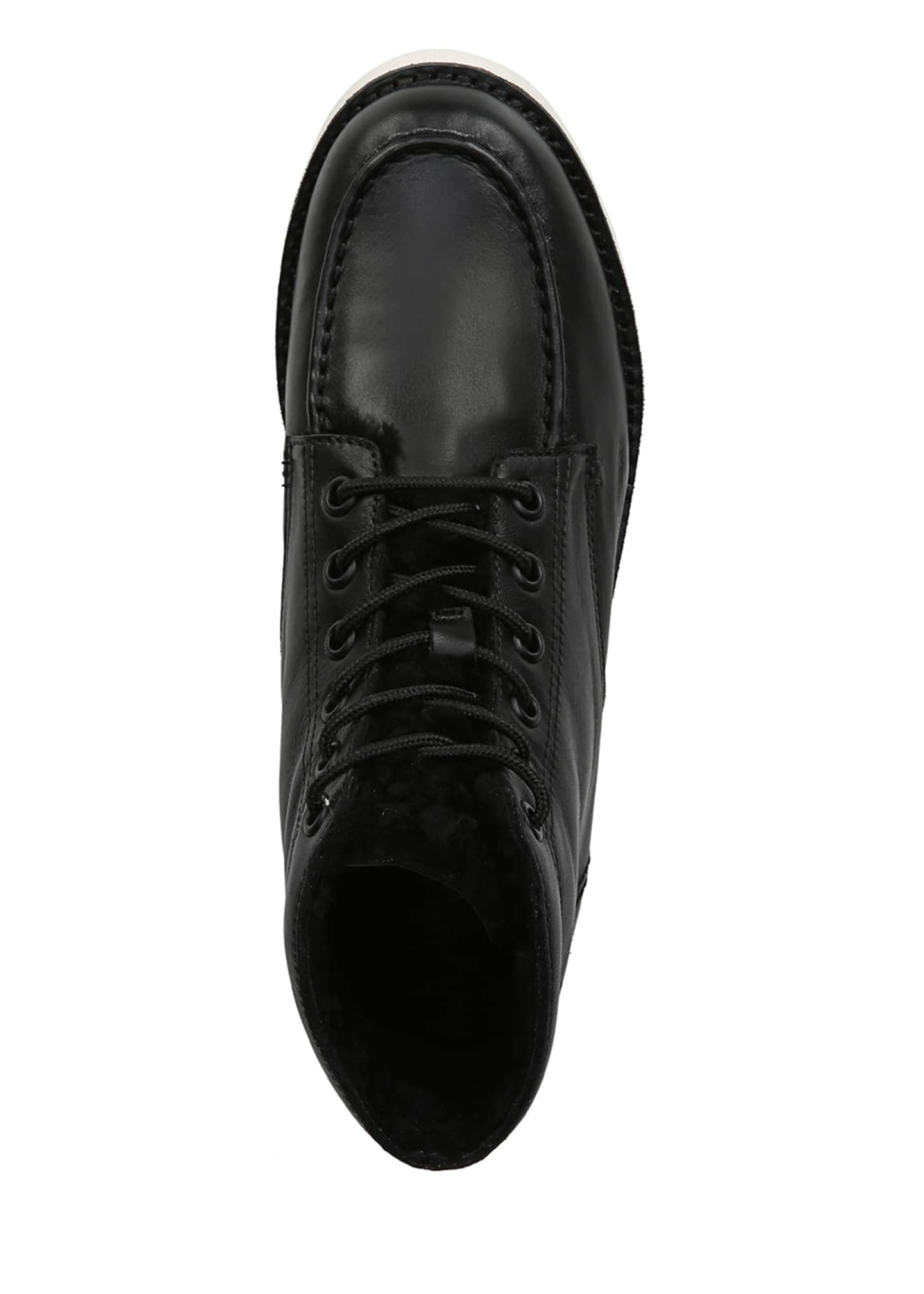 Image 4 of 4: Finley Leather Platform Lace-Up Booties