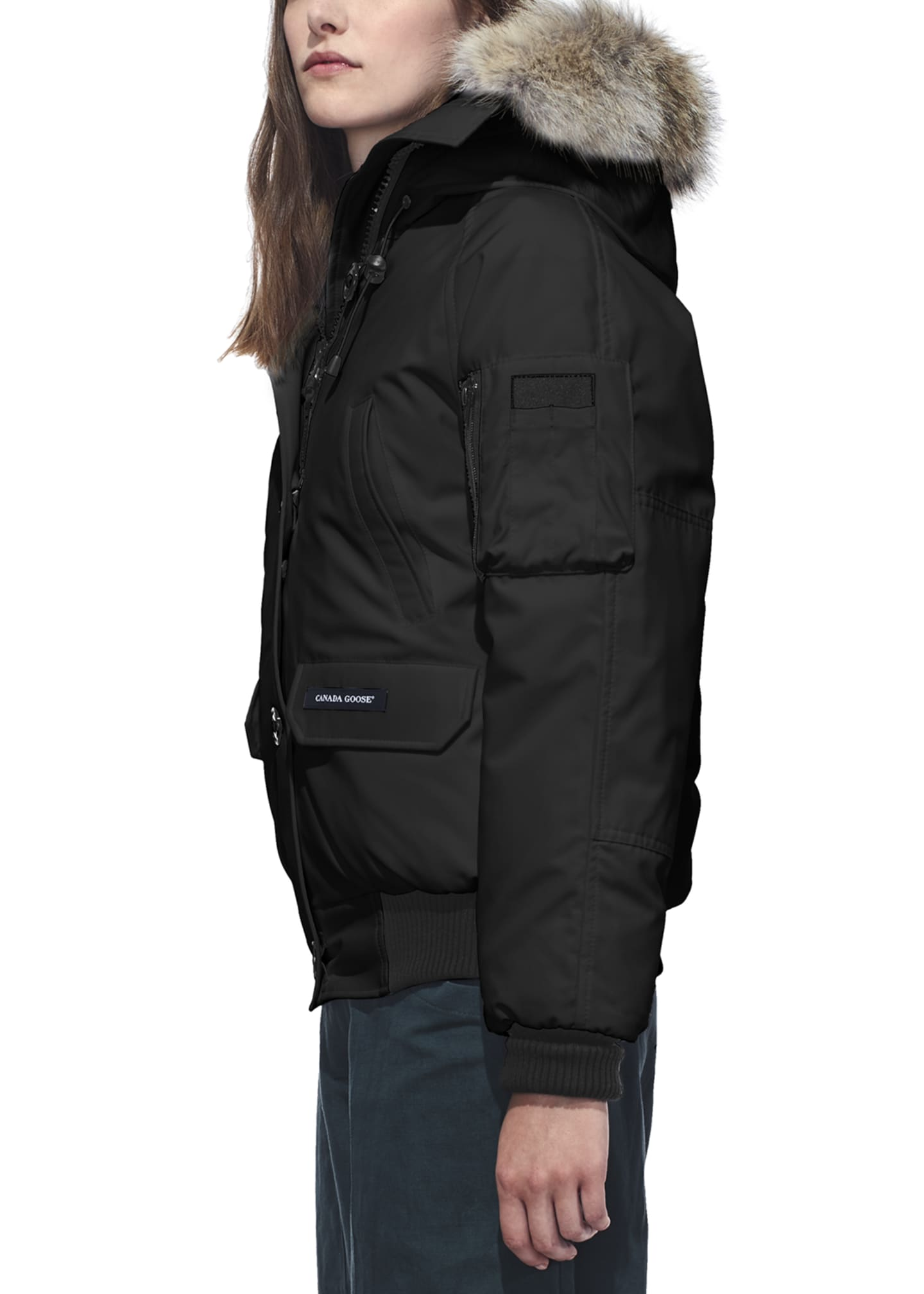 Image 2 of 4: Chilliwack Down Bomber Jacket w/ Fur Hood