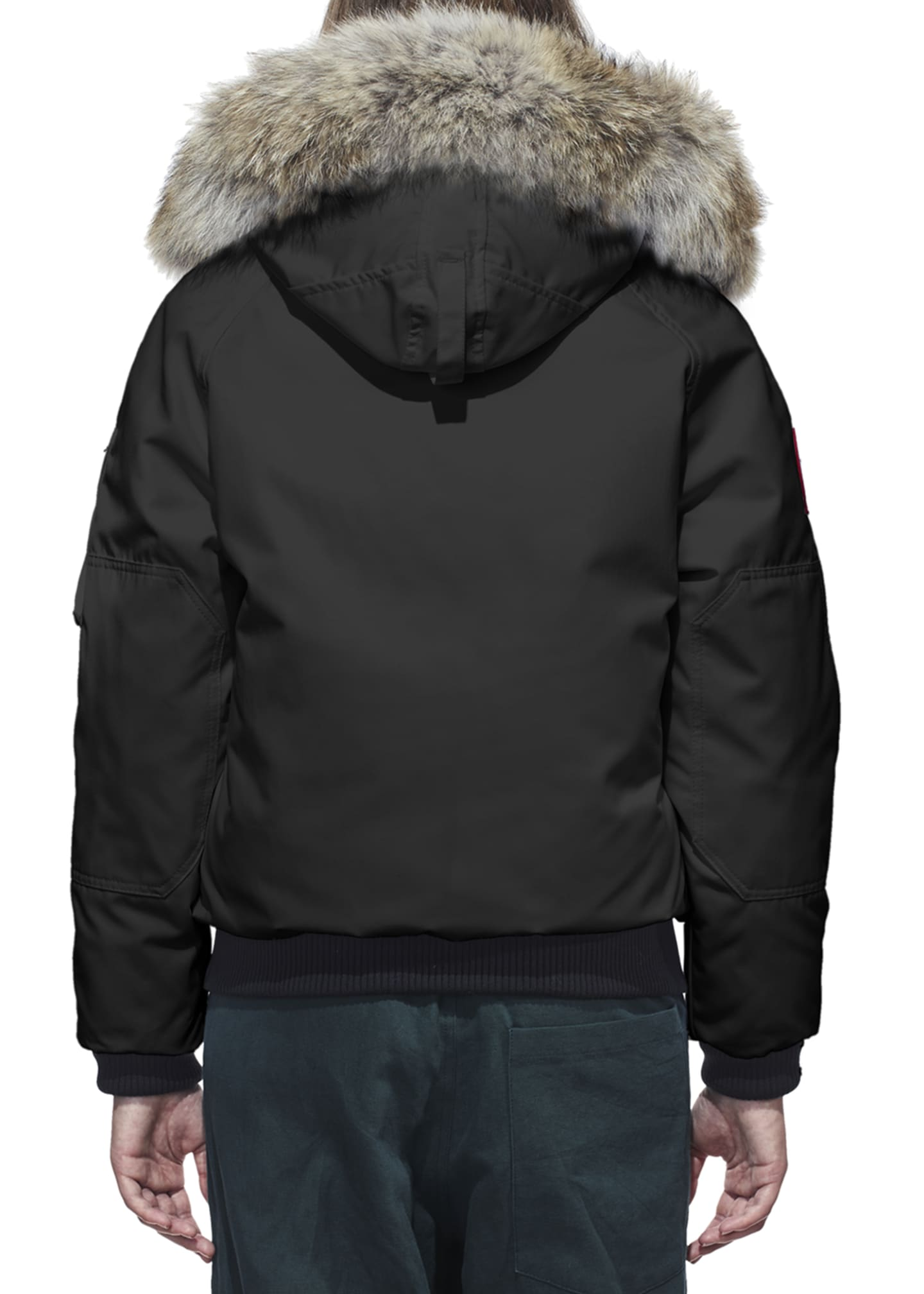 Image 3 of 4: Chilliwack Down Bomber Jacket w/ Fur Hood