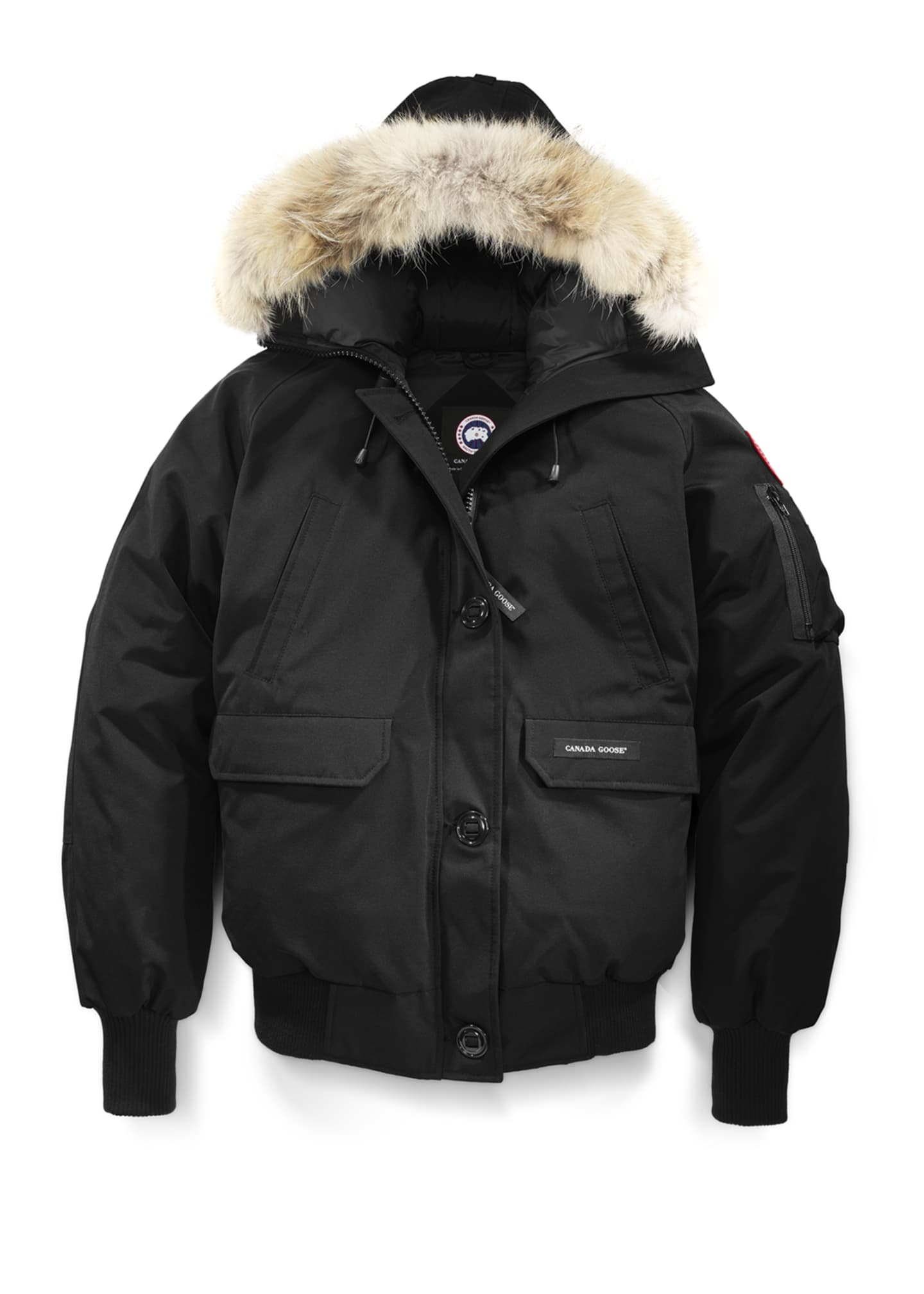 Image 4 of 4: Chilliwack Down Bomber Jacket w/ Fur Hood