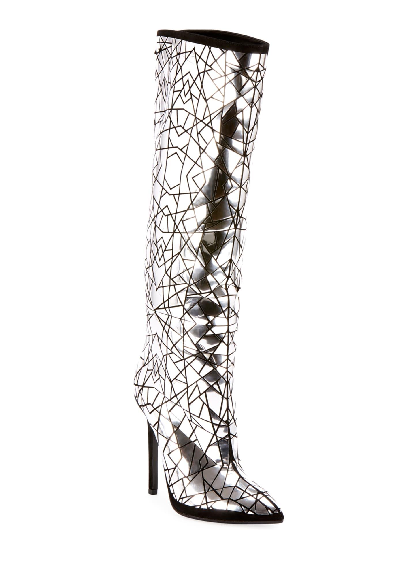 Balmain Joris Mirror Over-The-Knee Boots