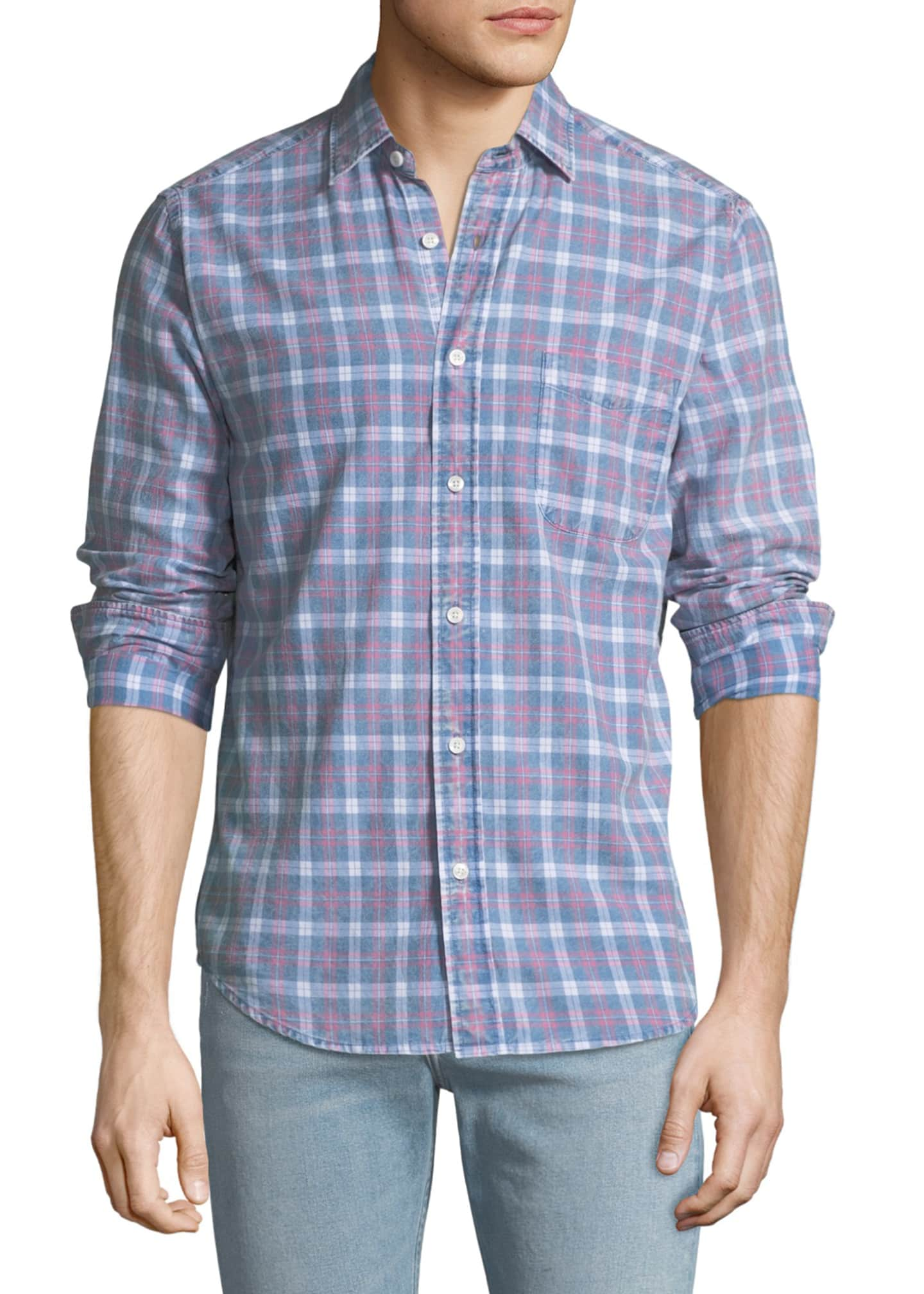 Faherty Men's Pacific Plaid Sport Shirt