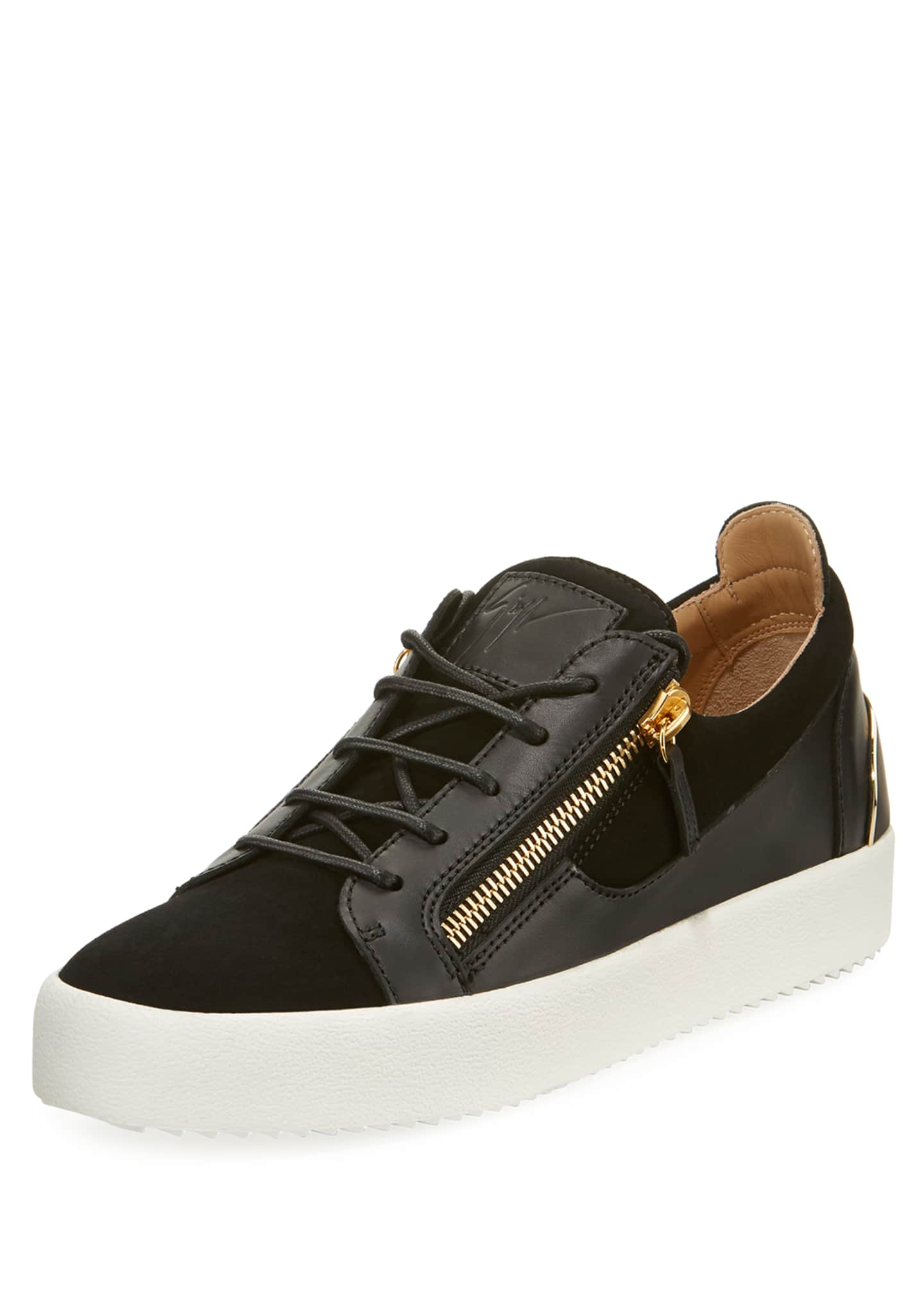 Giuseppe Zanotti Men's Suede & Leather Low-Top Sneakers