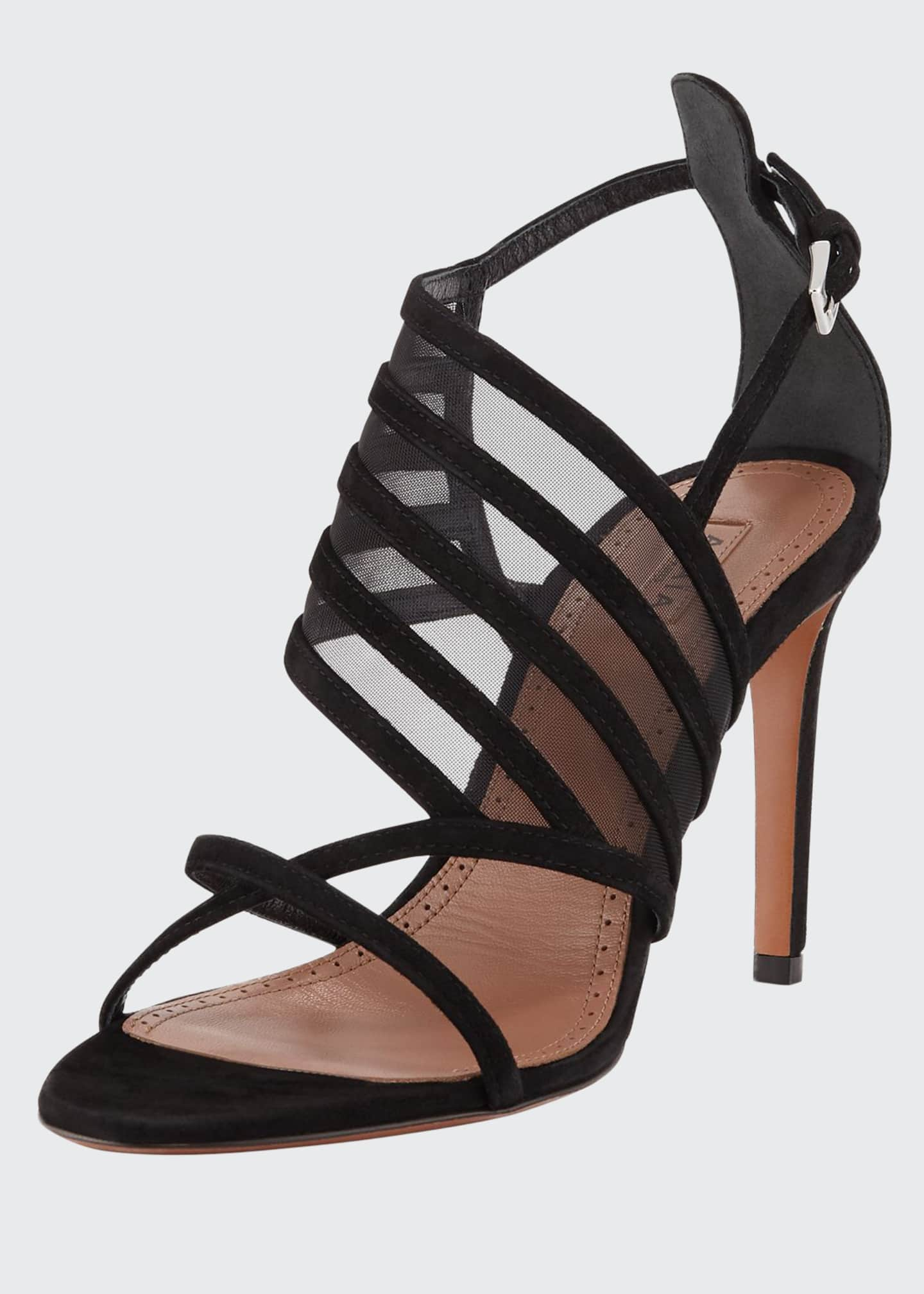 ALAIA Banded Suede Sandals