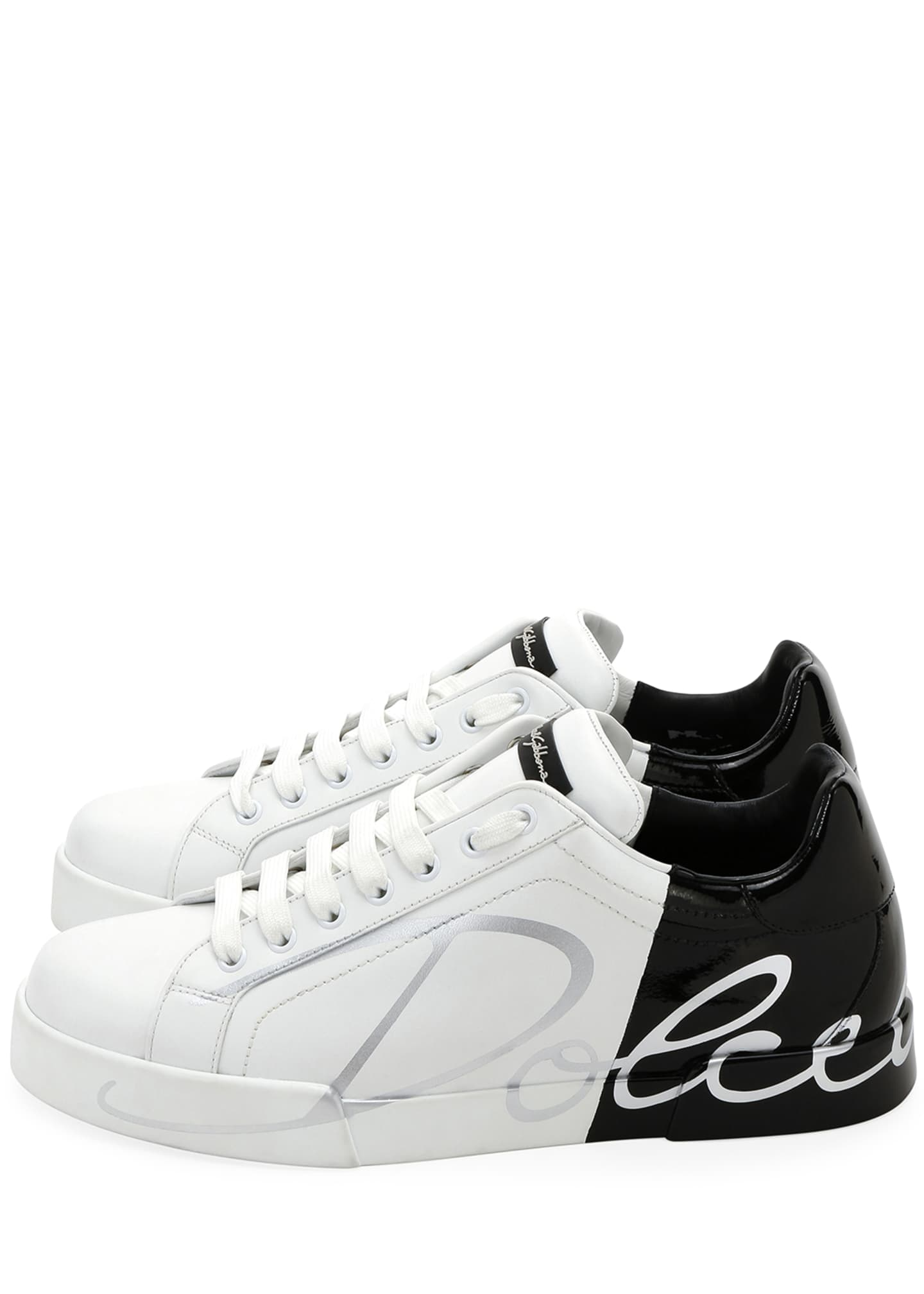 Image 3 of 4: Men's Signature Portofino Logo Sneakers