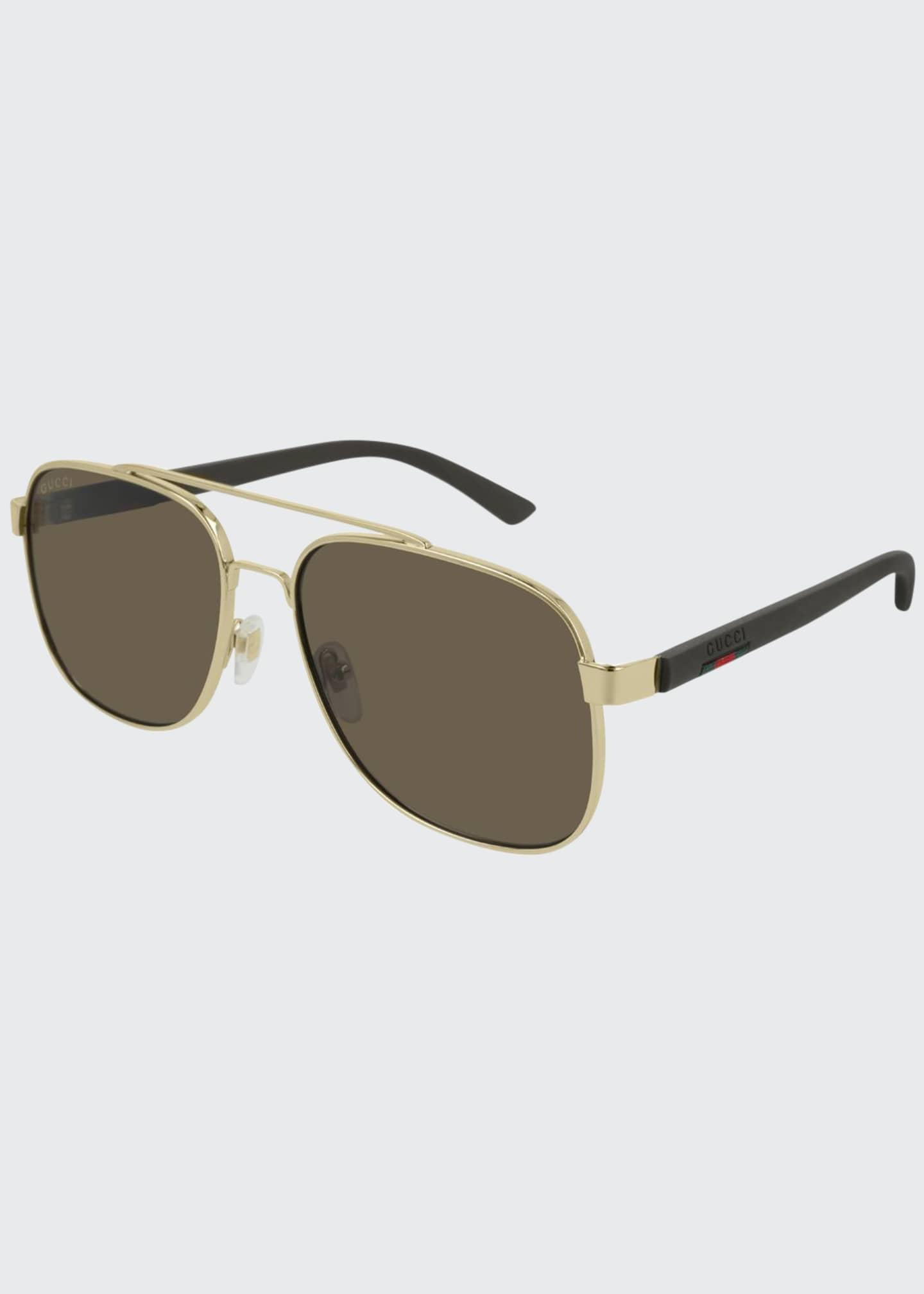Gucci Men's GG0422S003M Aviator Sunglasses