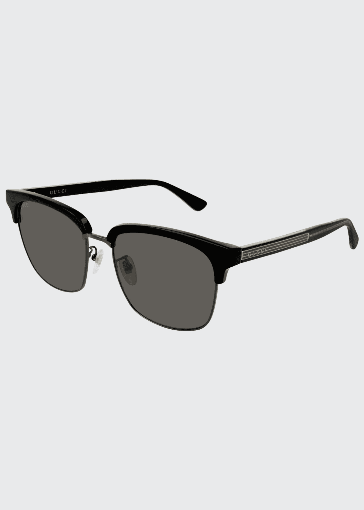 Gucci Men's GG0382S001M Half-Rim Sunglasses
