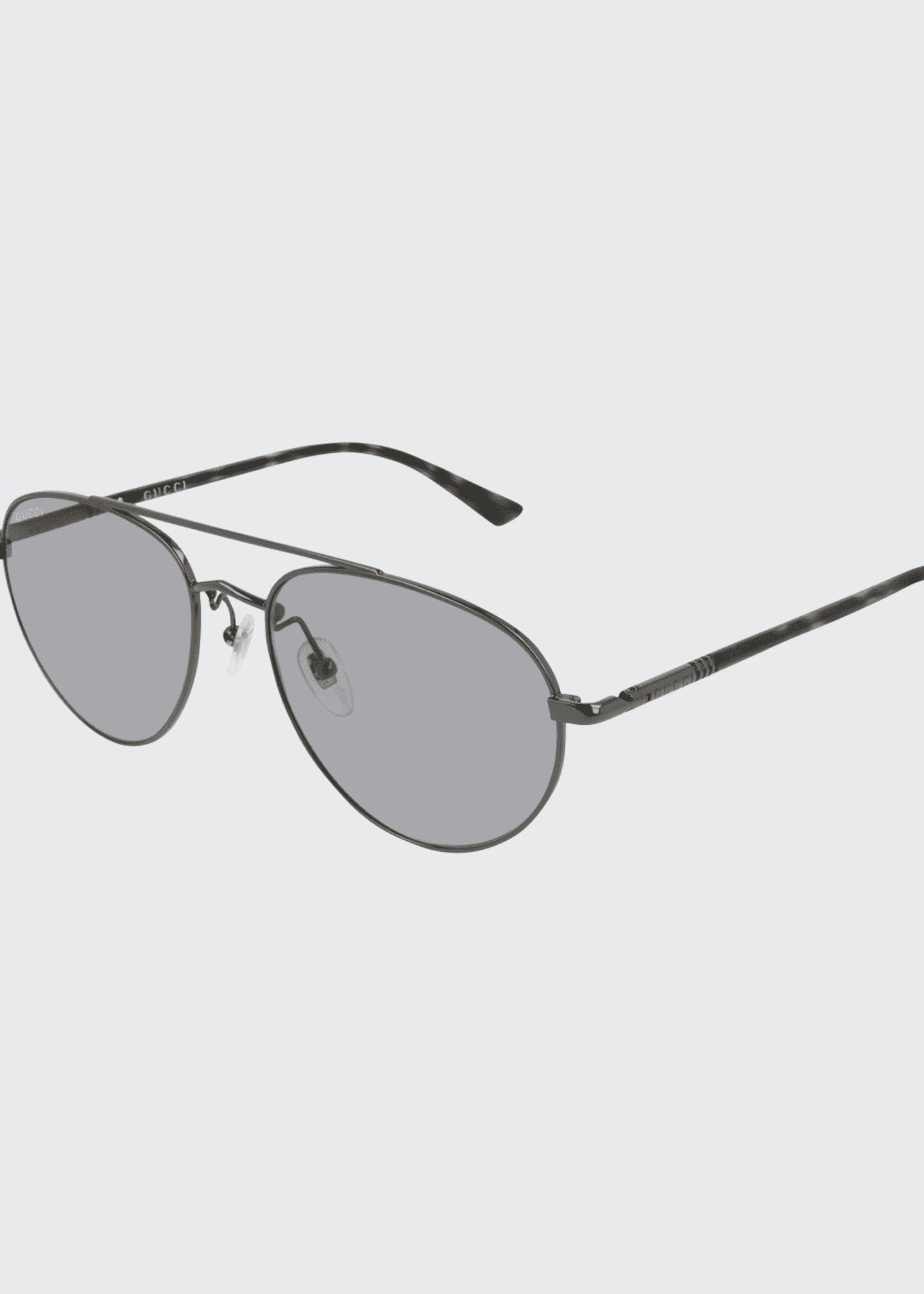 Gucci Men's GG0388S006M Metal Aviator Sunglasses