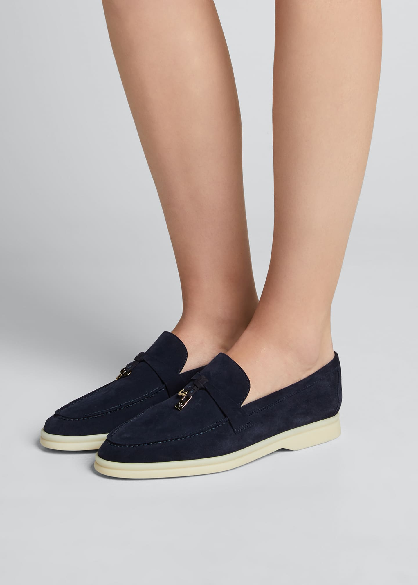 Image 2 of 5: Summer Charms Walk Suede Loafers