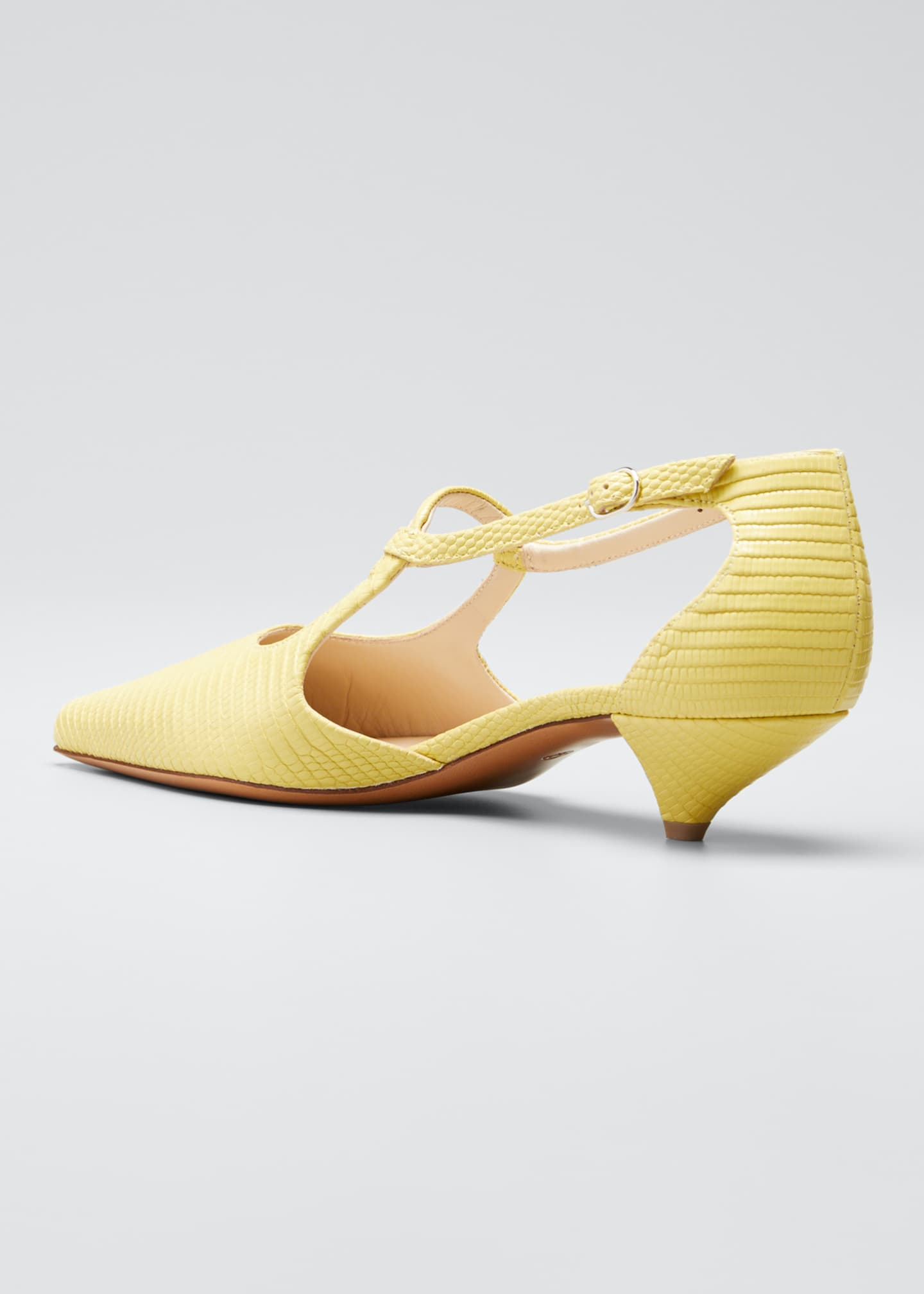 Image 4 of 5: Bourgeoisie Salome Lizard Pumps