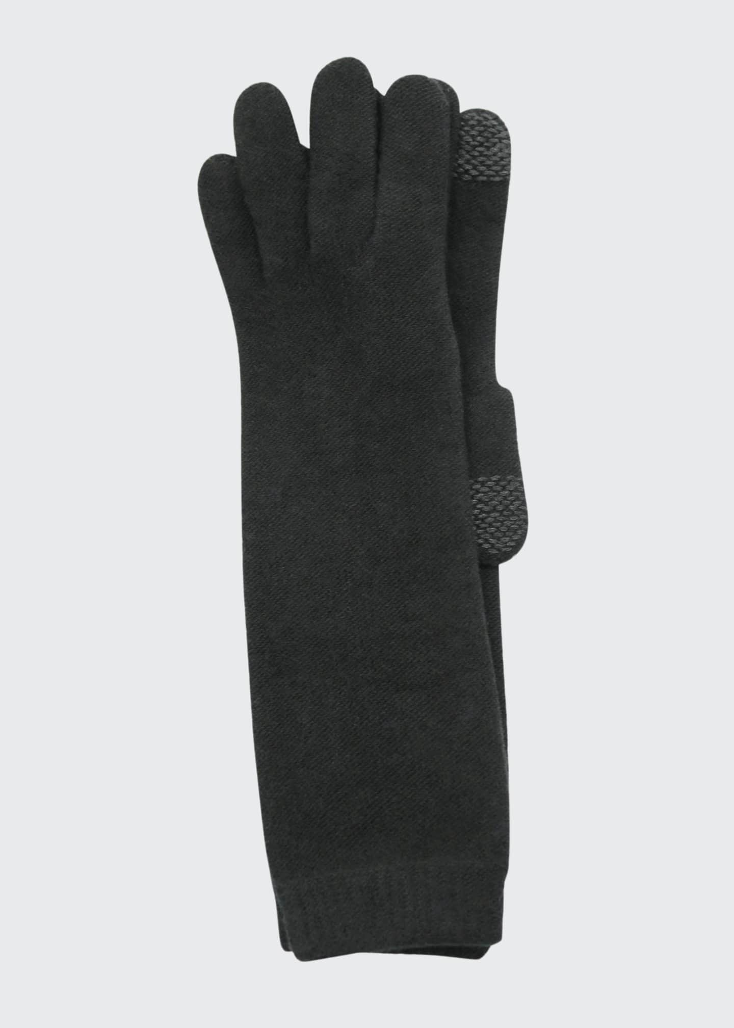 Image 1 of 1: Long Cashmere Tech Gloves