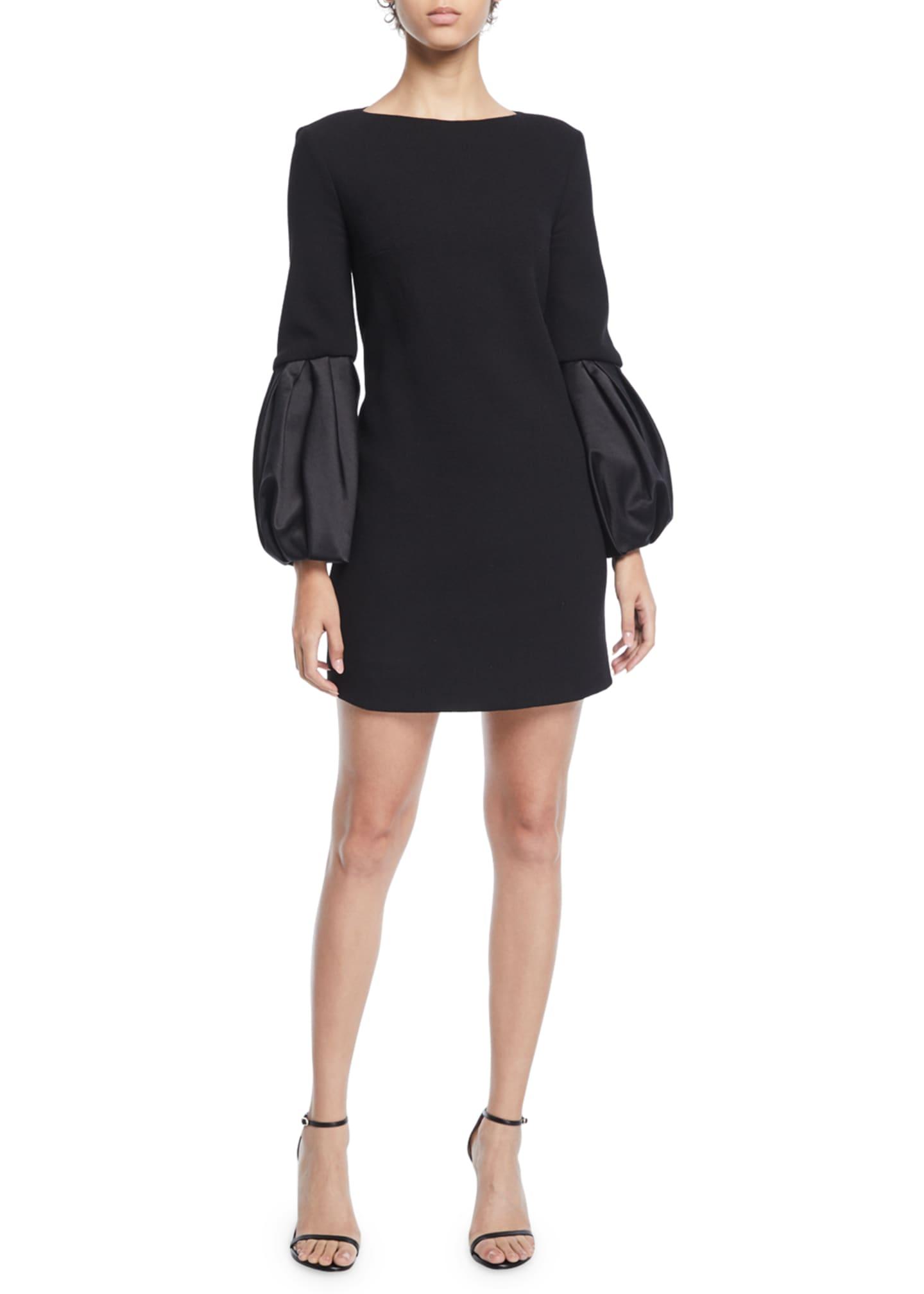 Michael Kors Collection Duchess-Sleeve Boucle Shift Dress