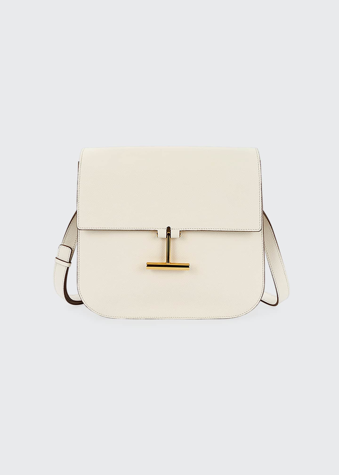 Image 1 of 3: Small Tara Grain Calf Shoulder Bag