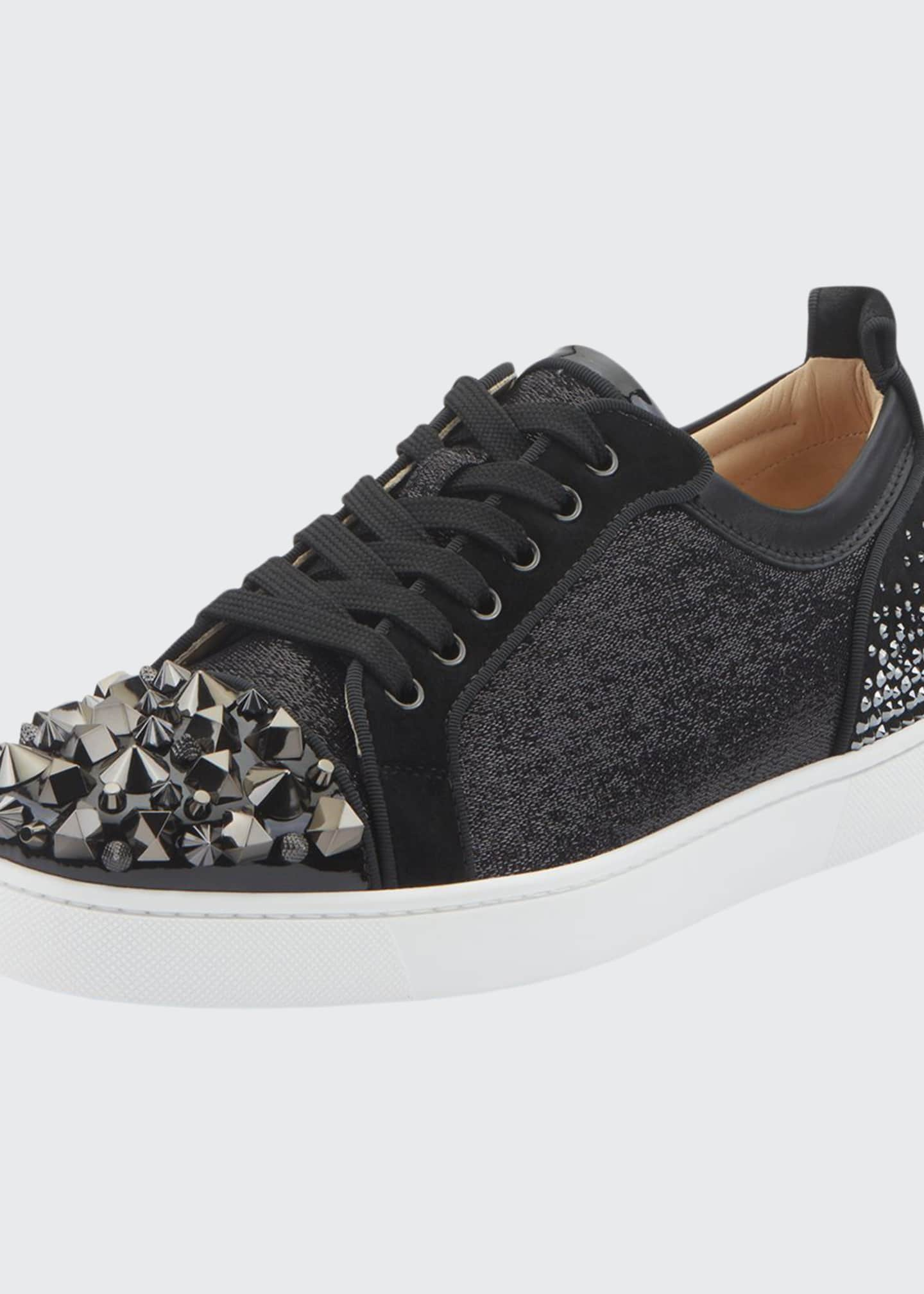 Christian Louboutin Men's Louis Junior Spike Low-Top Sneakers