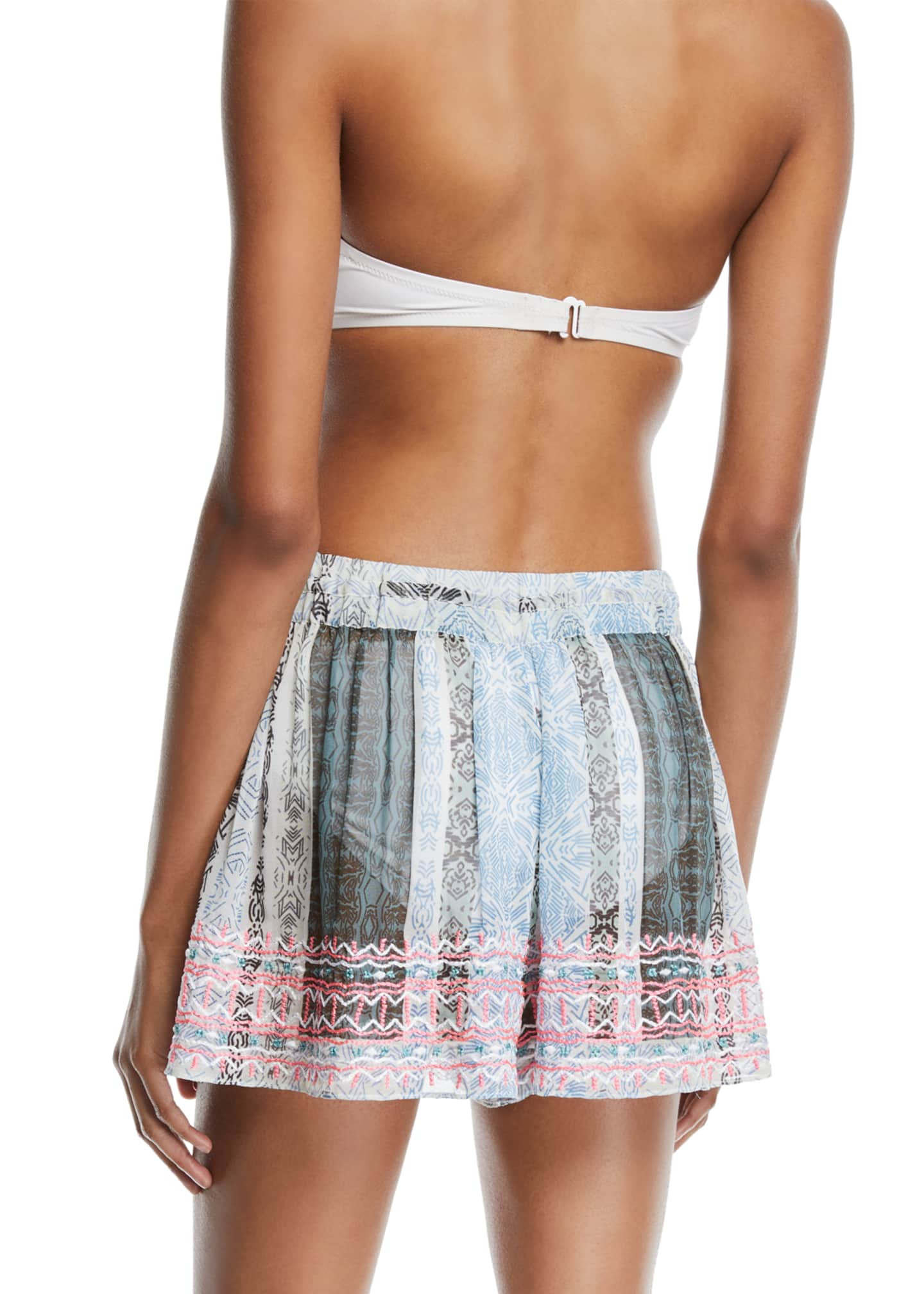 Ramy Brook Womens Irina Embroidered Shorts