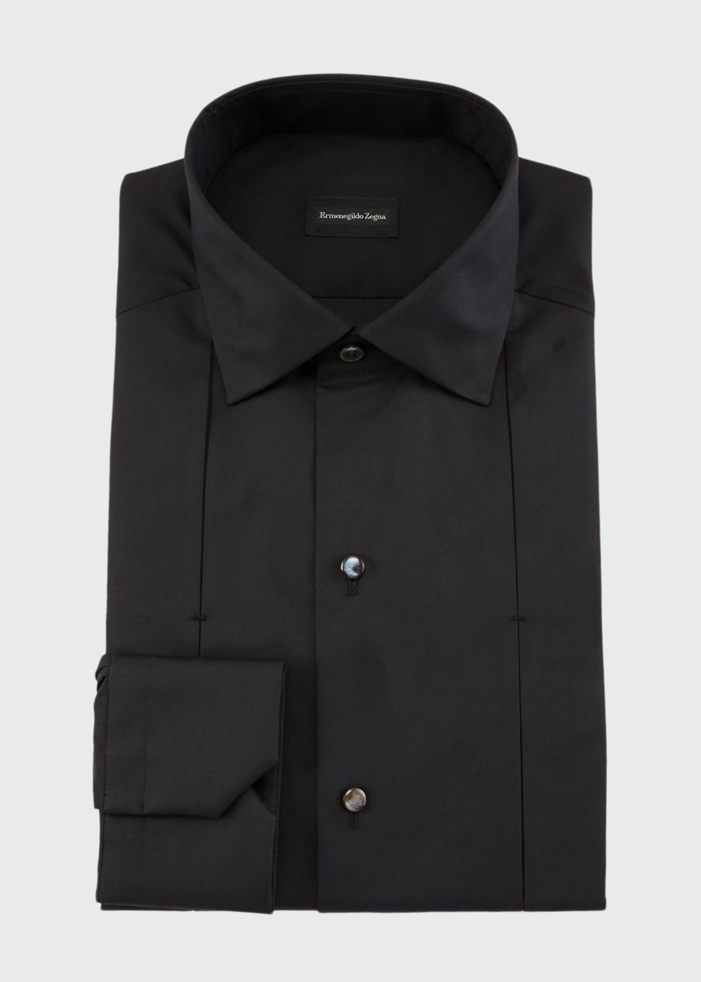 Ermenegildo Zegna Men's Cotton/Silk Diamond Formal Shirt