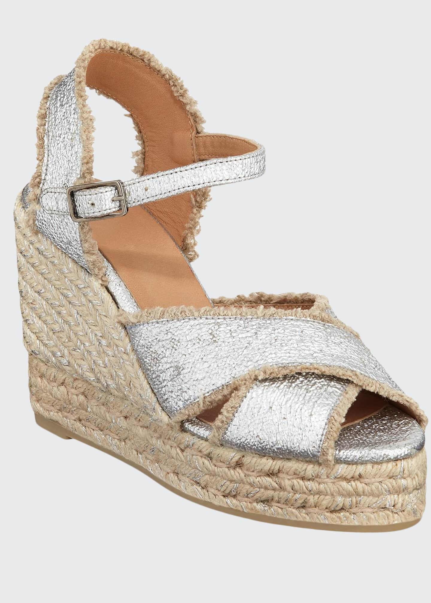 Castaner 100mm Bromelia Wedge Crisscross Espadrille Sandals