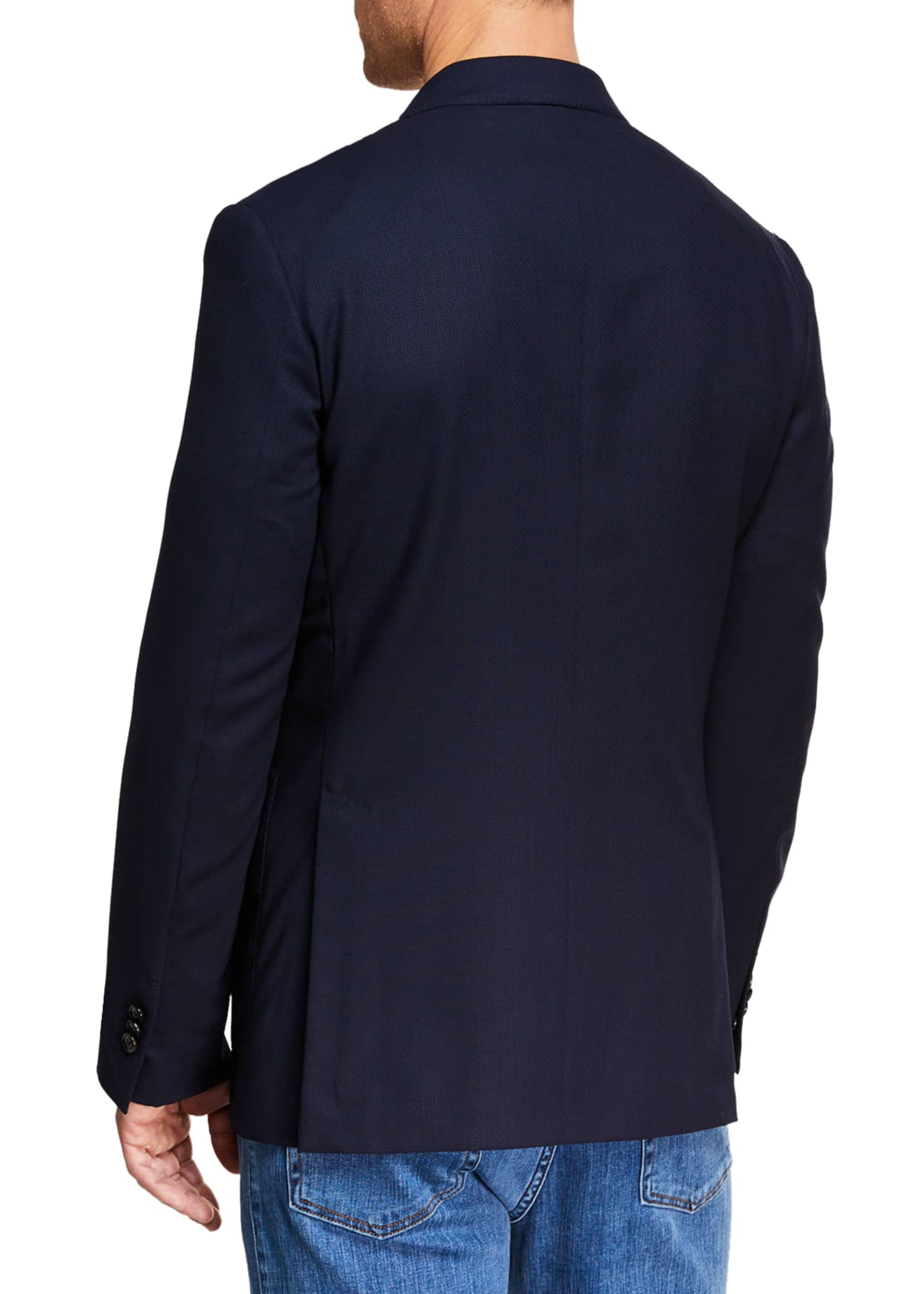 Image 2 of 3: Men's Packaway Wool Two-Button Jacket