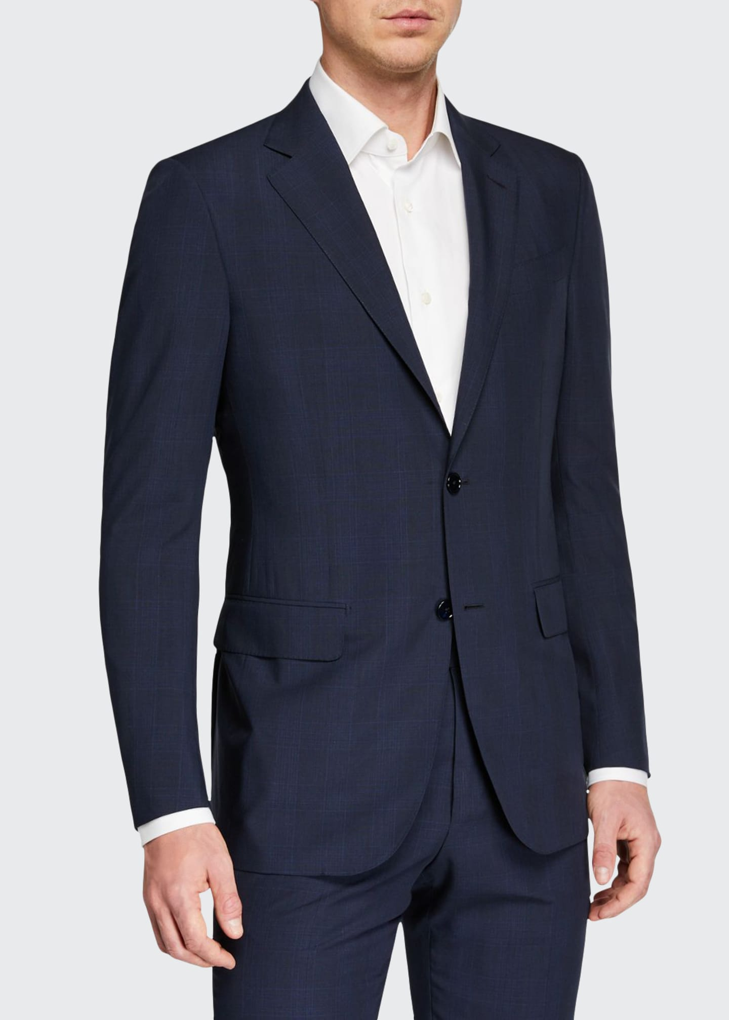 Ermenegildo Zegna Men's Leggerissimo Two-Piece Solid Wool-Silk