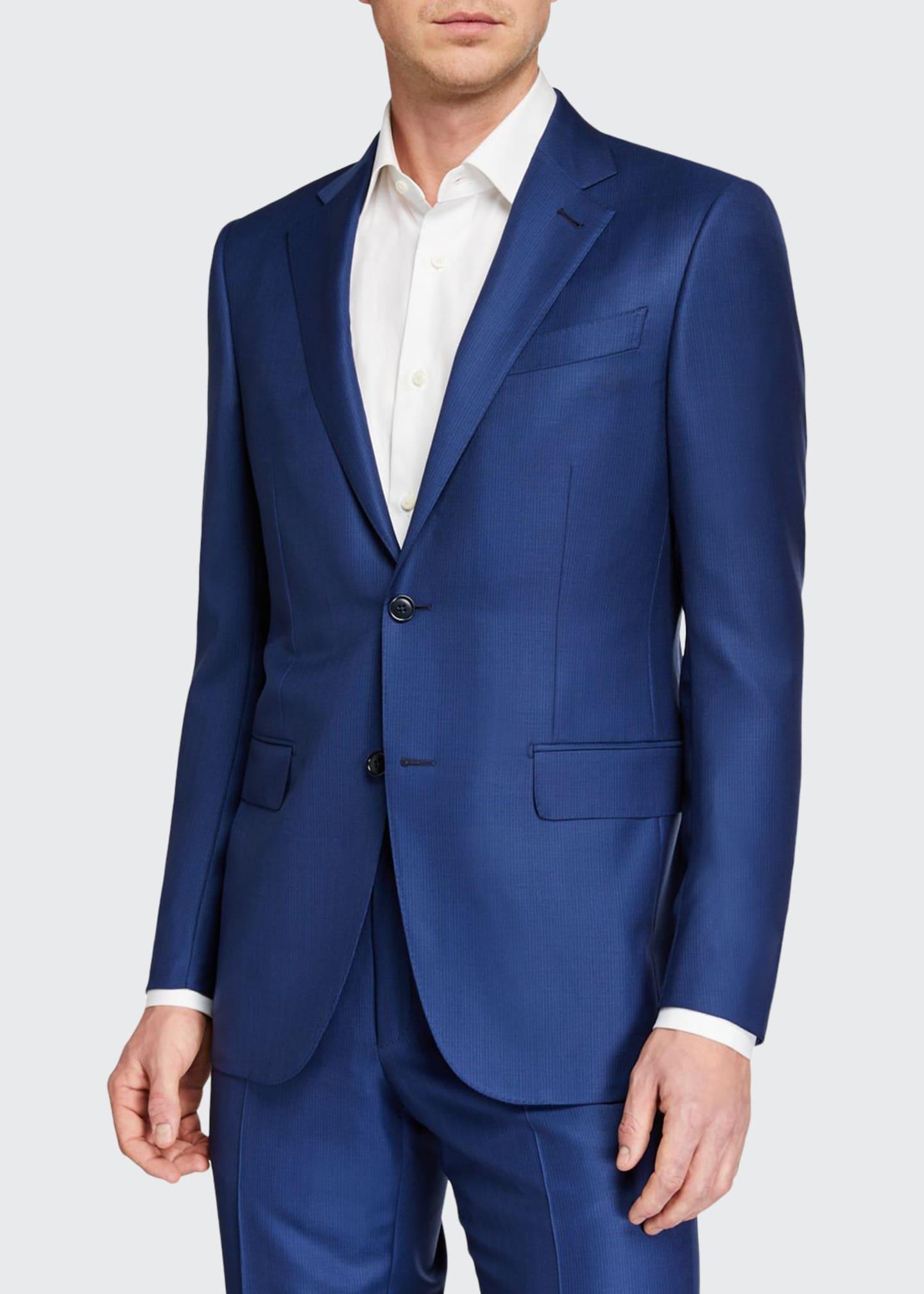 Ermenegildo Zegna Men's Two-Piece Textured Solid Wool Suit