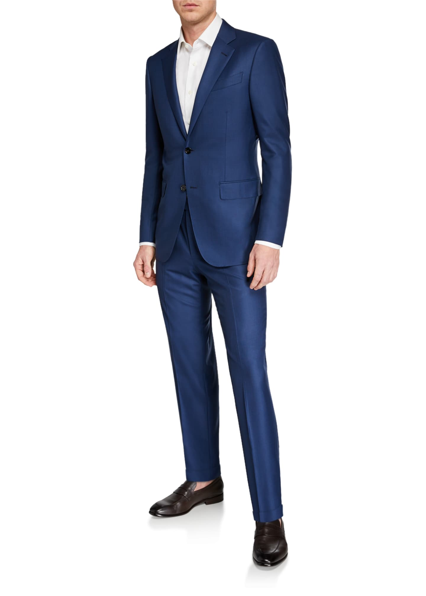 Image 2 of 4: Men's 15milmil15 Two-Piece Tonal Striped Regular-Fit Suit