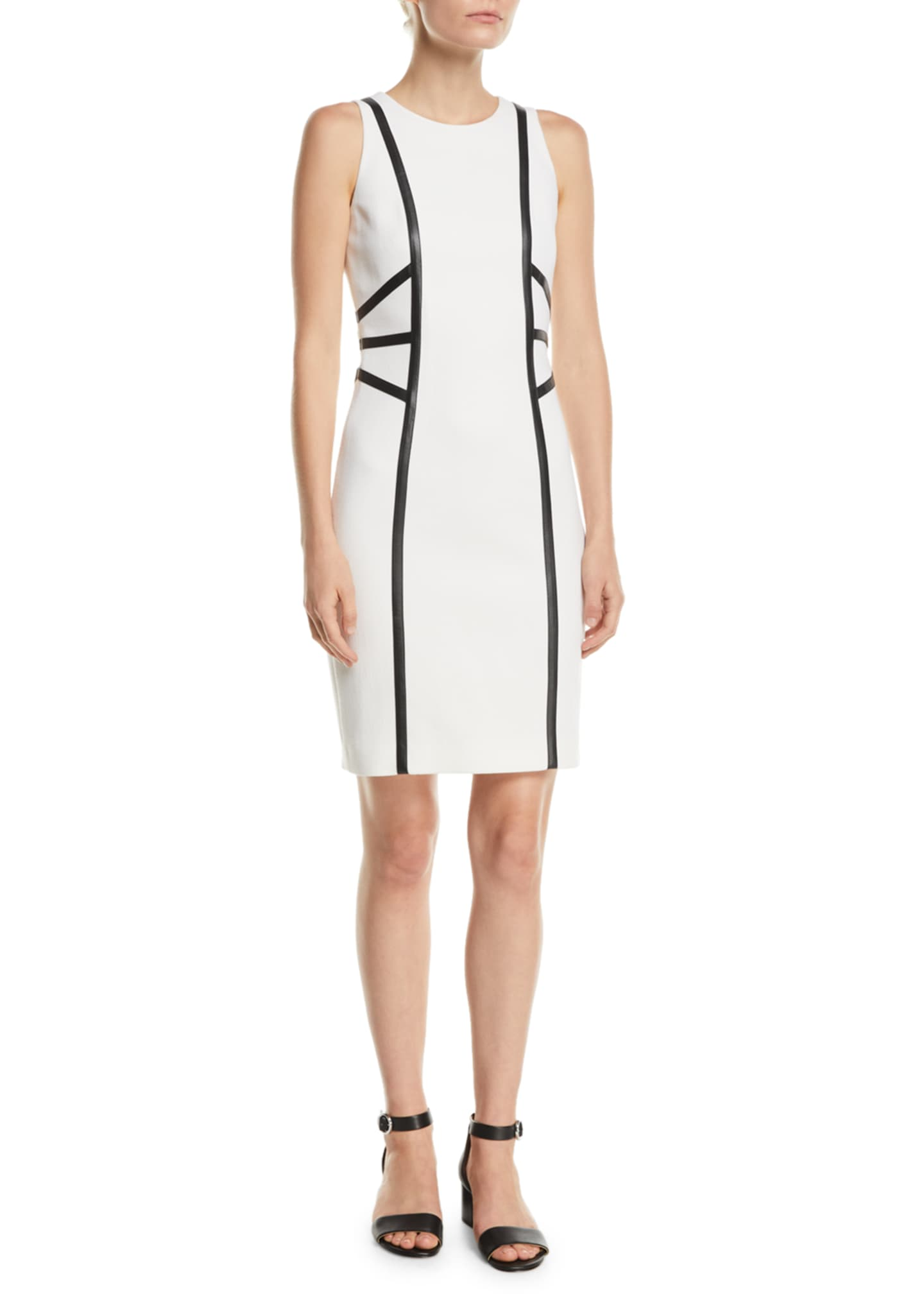 Michael Kors Collection Sleeveless Stretch-Boucle Crepe Dress w/