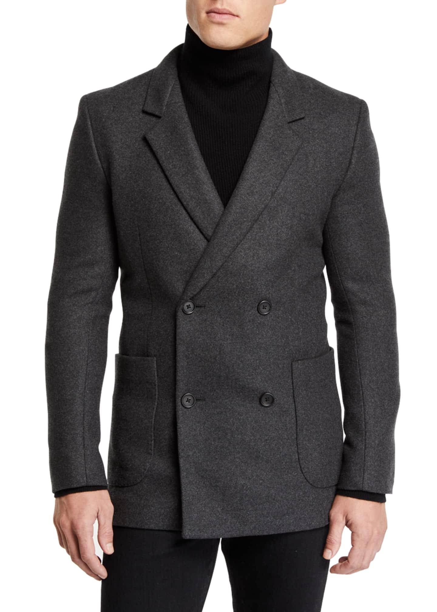 THE ROW Men's Mies Cashmere Pea Coat