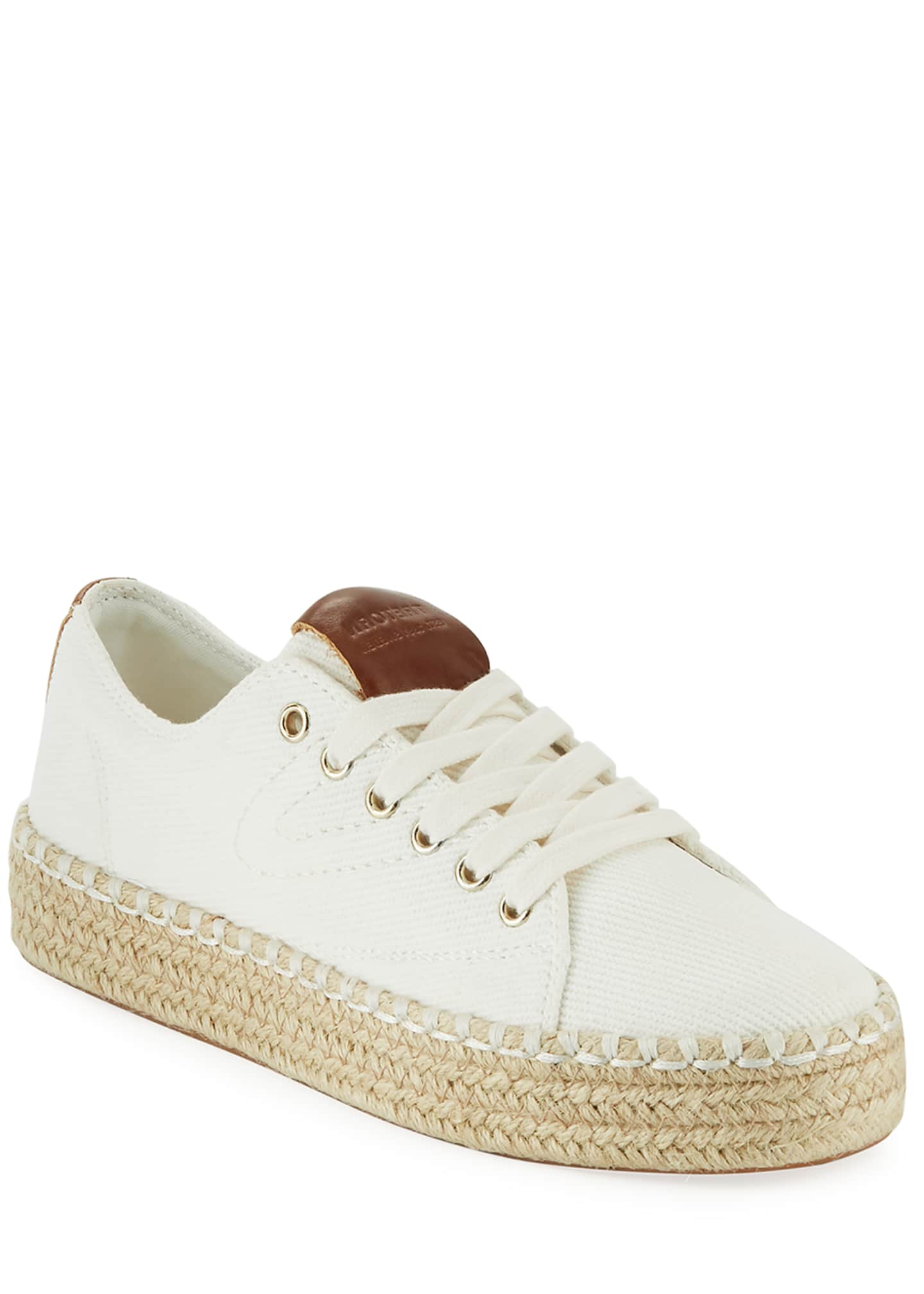 Image 1 of 5: Eve Canvas Espadrille Platform Sneakers