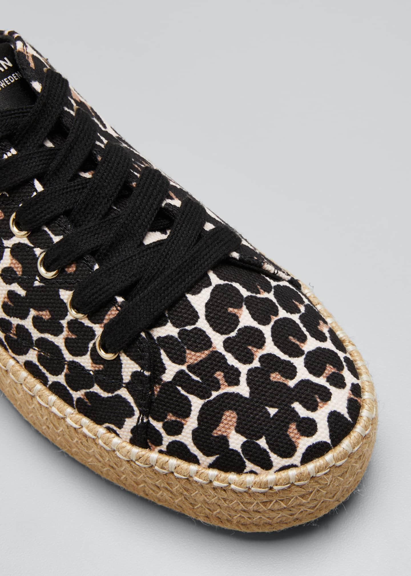 Image 5 of 5: Eve Canvas Espadrille Platform Sneakers