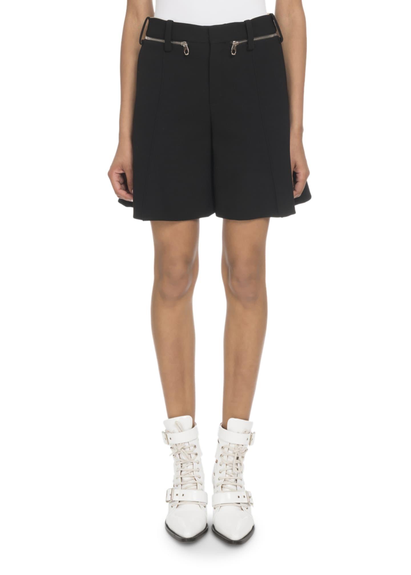 Chloe Zip-Waist Shorts