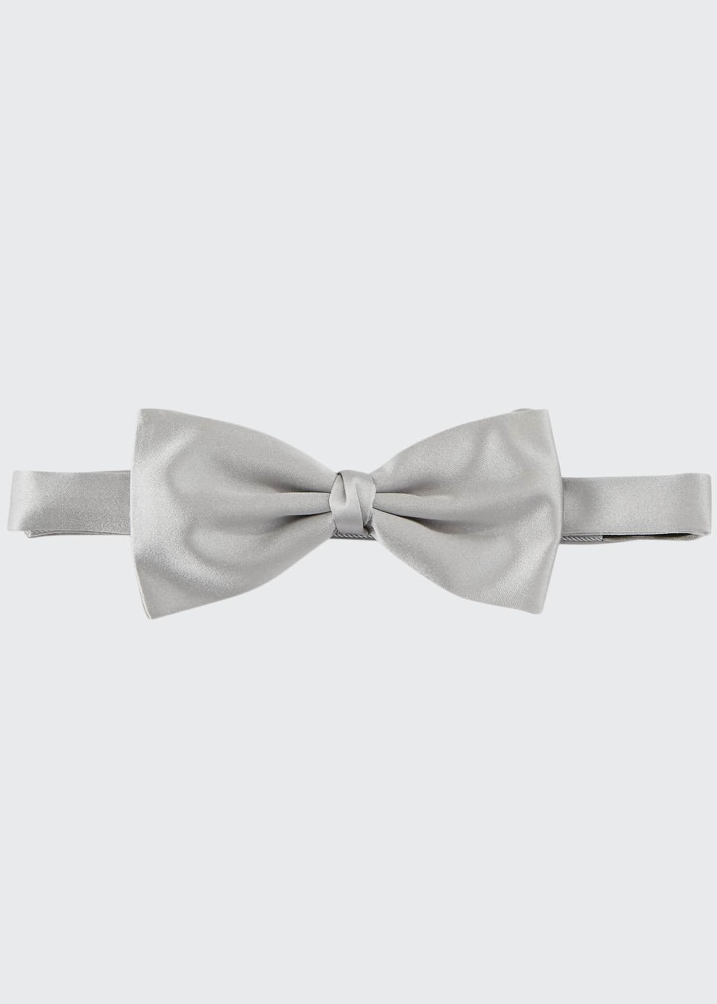Ermenegildo Zegna Self-Tie Silk Satin Bow Tie