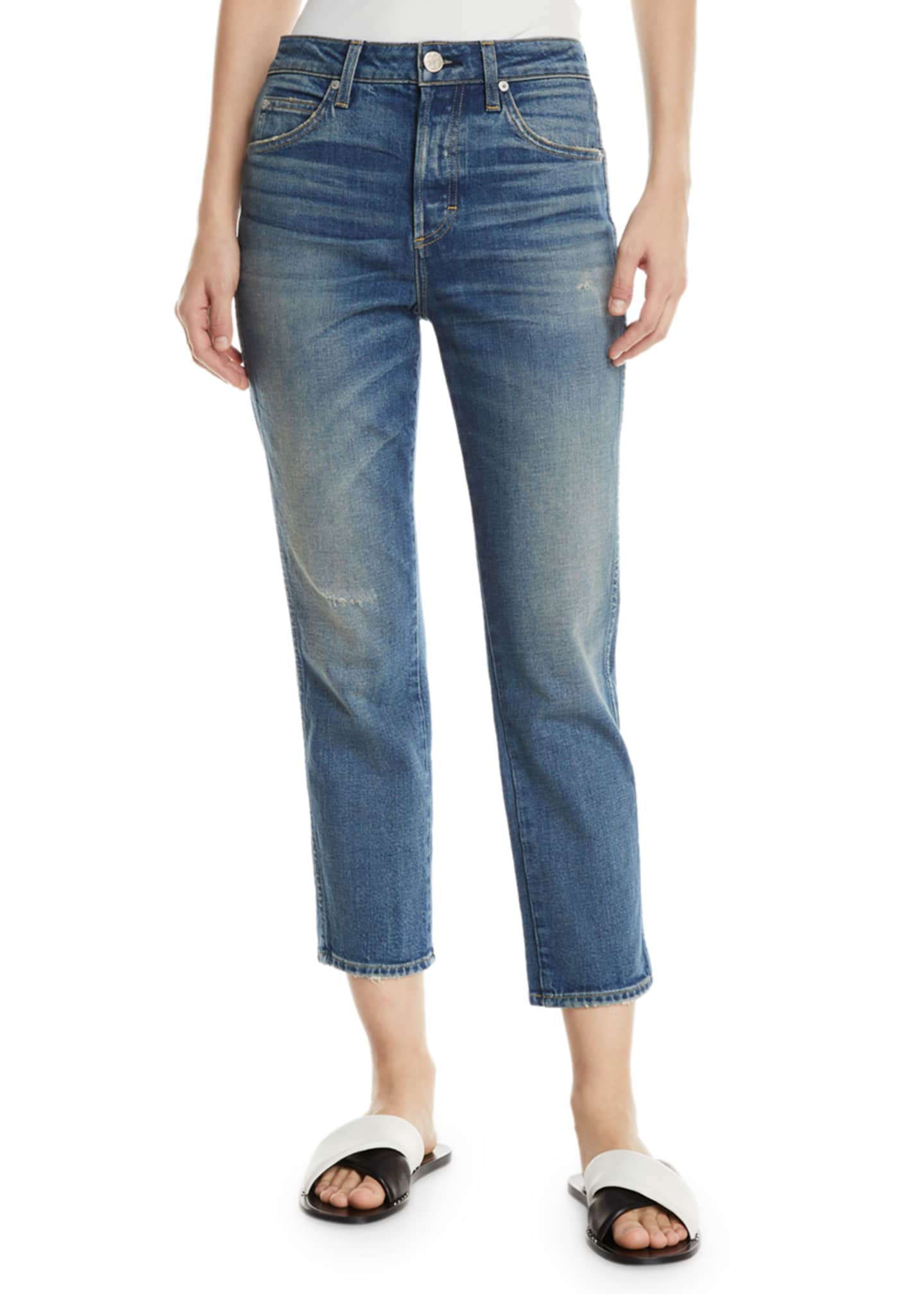 Image 1 of 3: Babe Straight-Leg Cropped Jeans