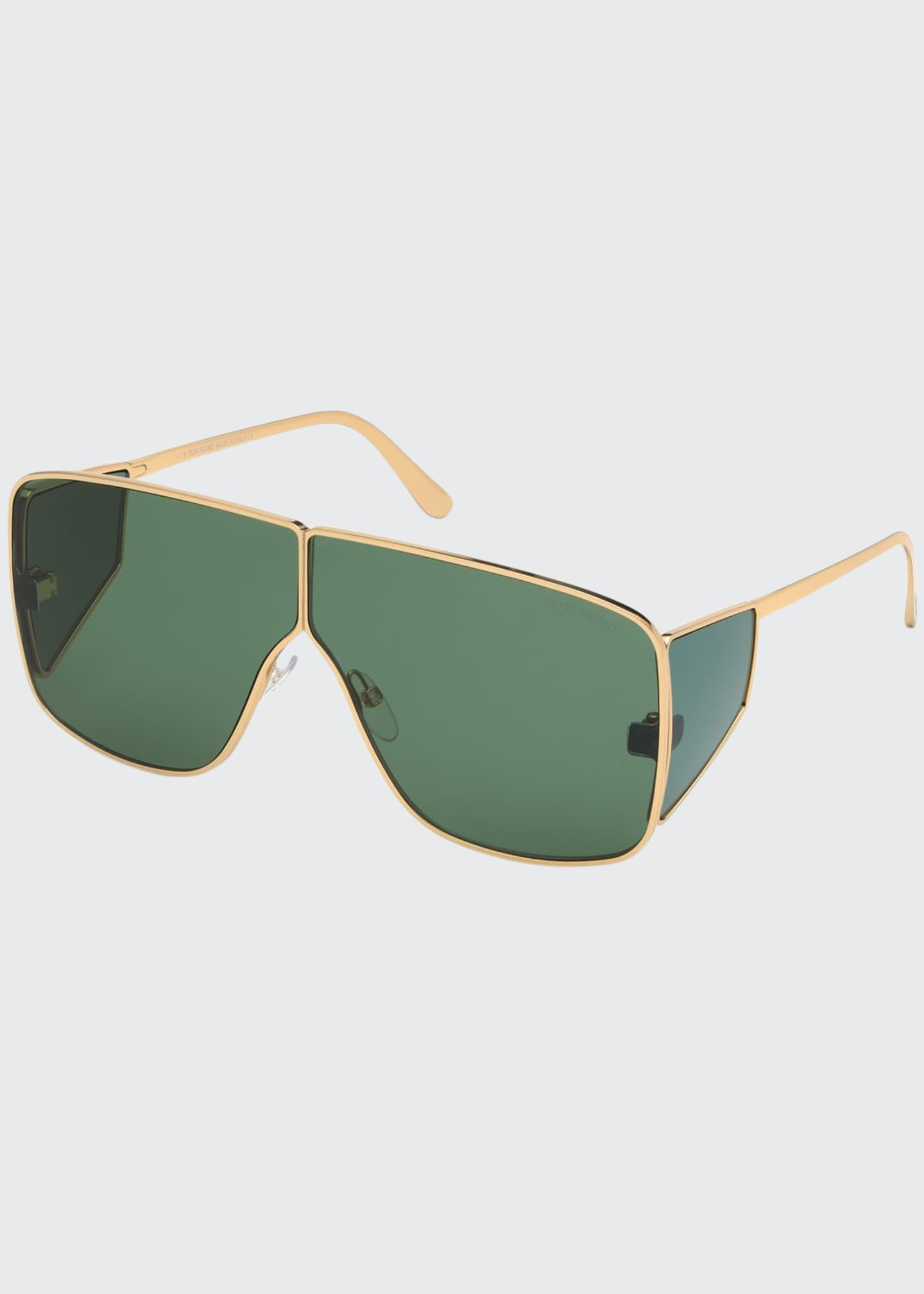 TOM FORD Men's Spector Metal Shield Sunglasses