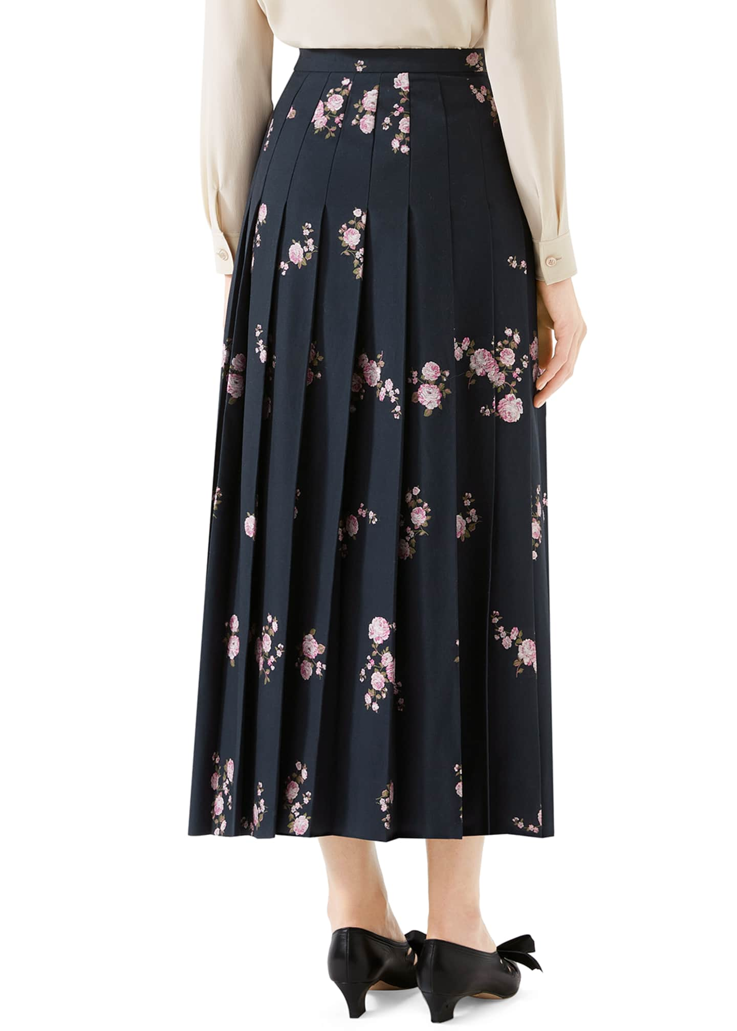 Image 2 of 2: Camelia Bouquet Fil Coupe Pleated Maxi Skirt