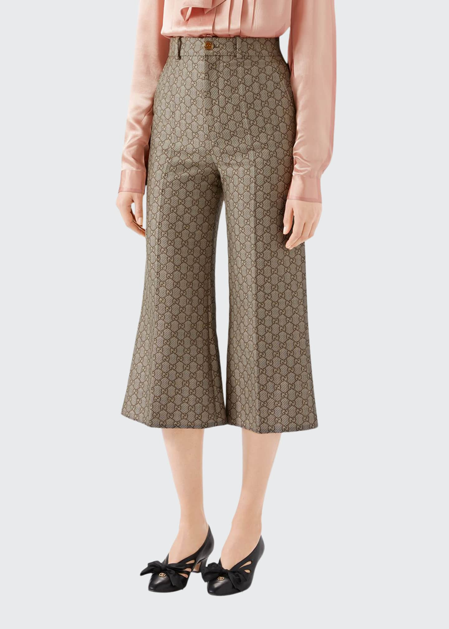 Gucci GG Wool Canvas Culotte Pants