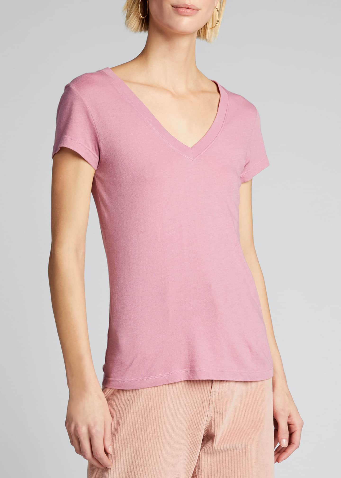 Image 3 of 5: Becca V-Neck Short-Sleeve Tee