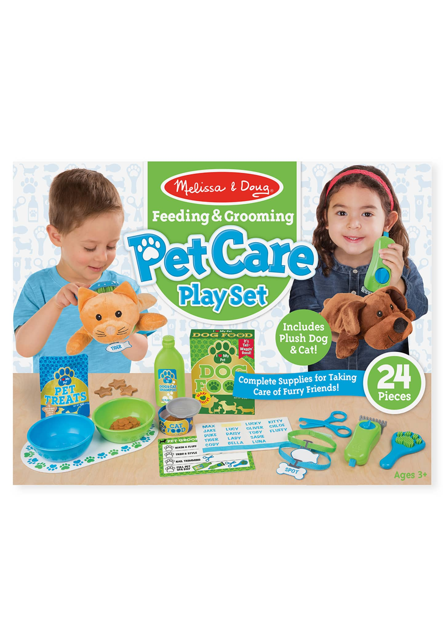 Image 2 of 3: Feeding & Grooming Pet Care Play Set