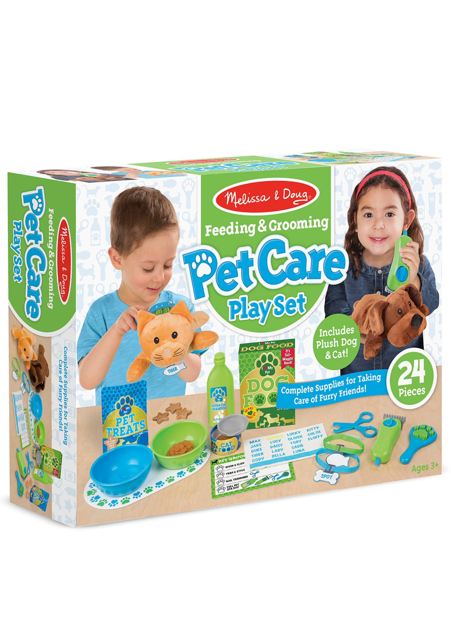 Image 3 of 3: Feeding & Grooming Pet Care Play Set