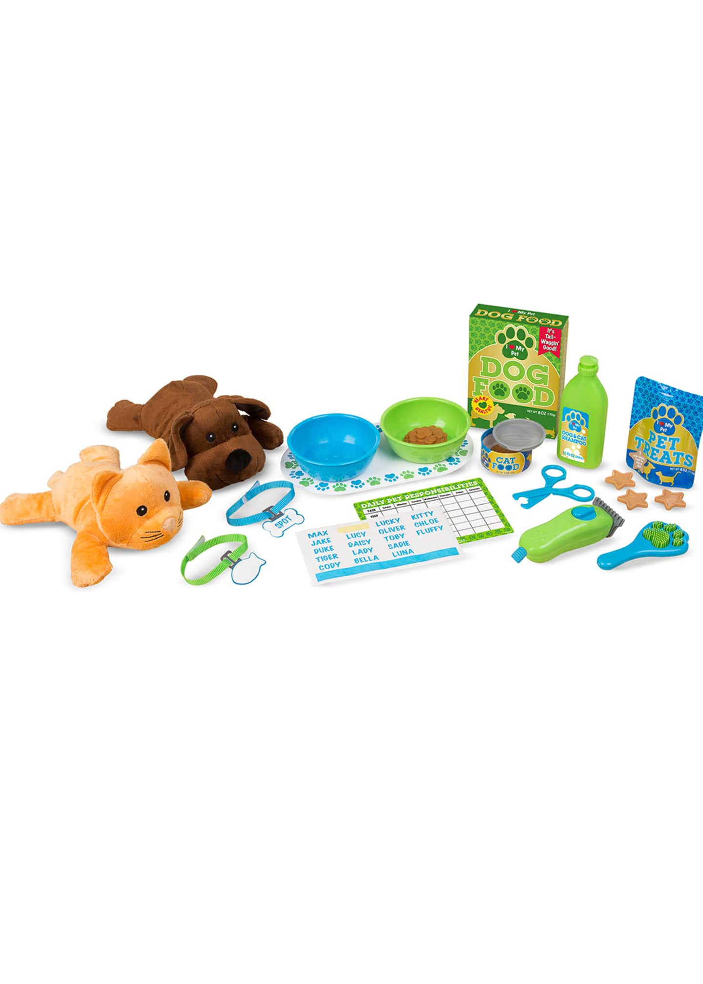 Image 1 of 3: Feeding & Grooming Pet Care Play Set