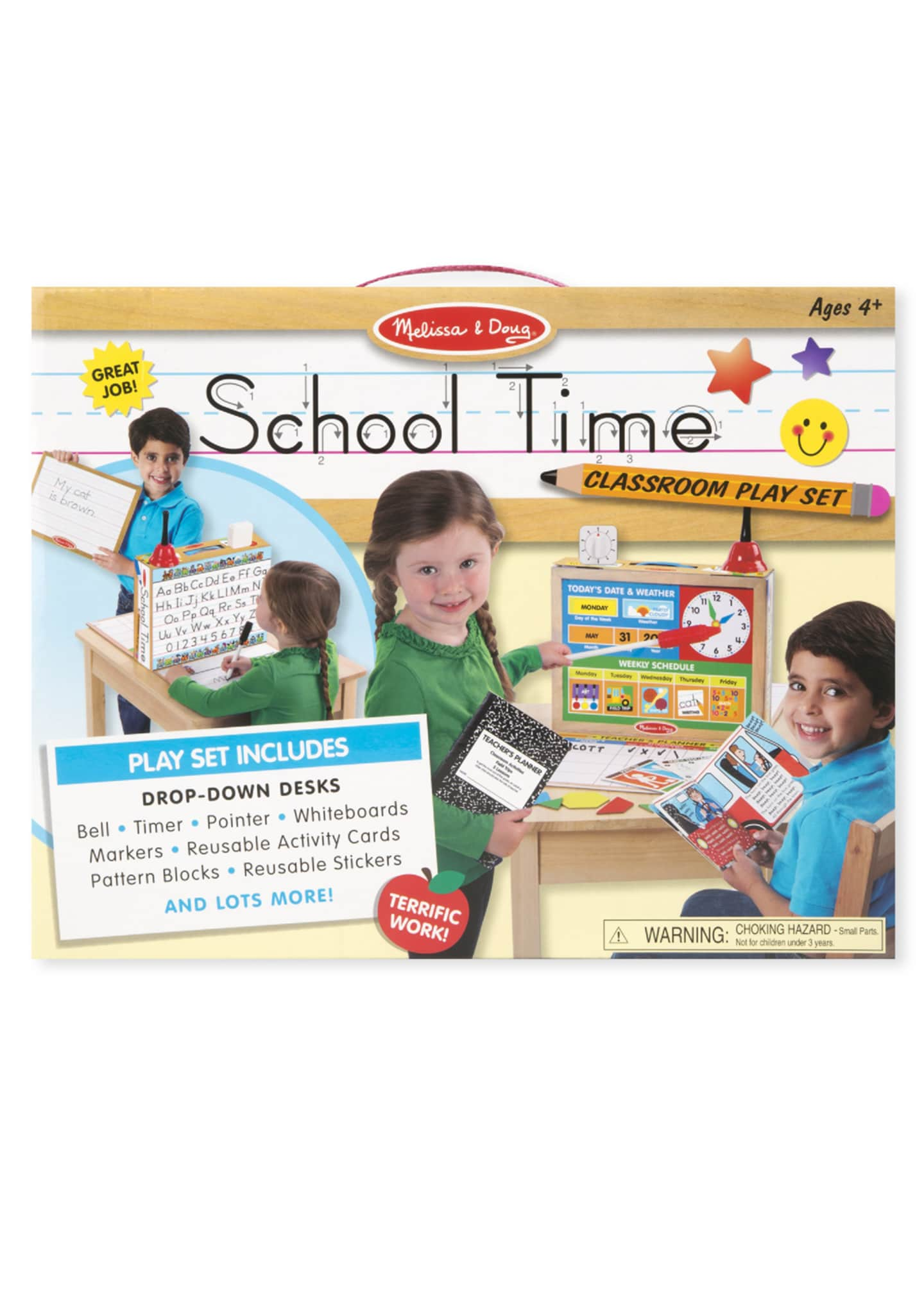 Image 2 of 2: School Time Classroom Play Set