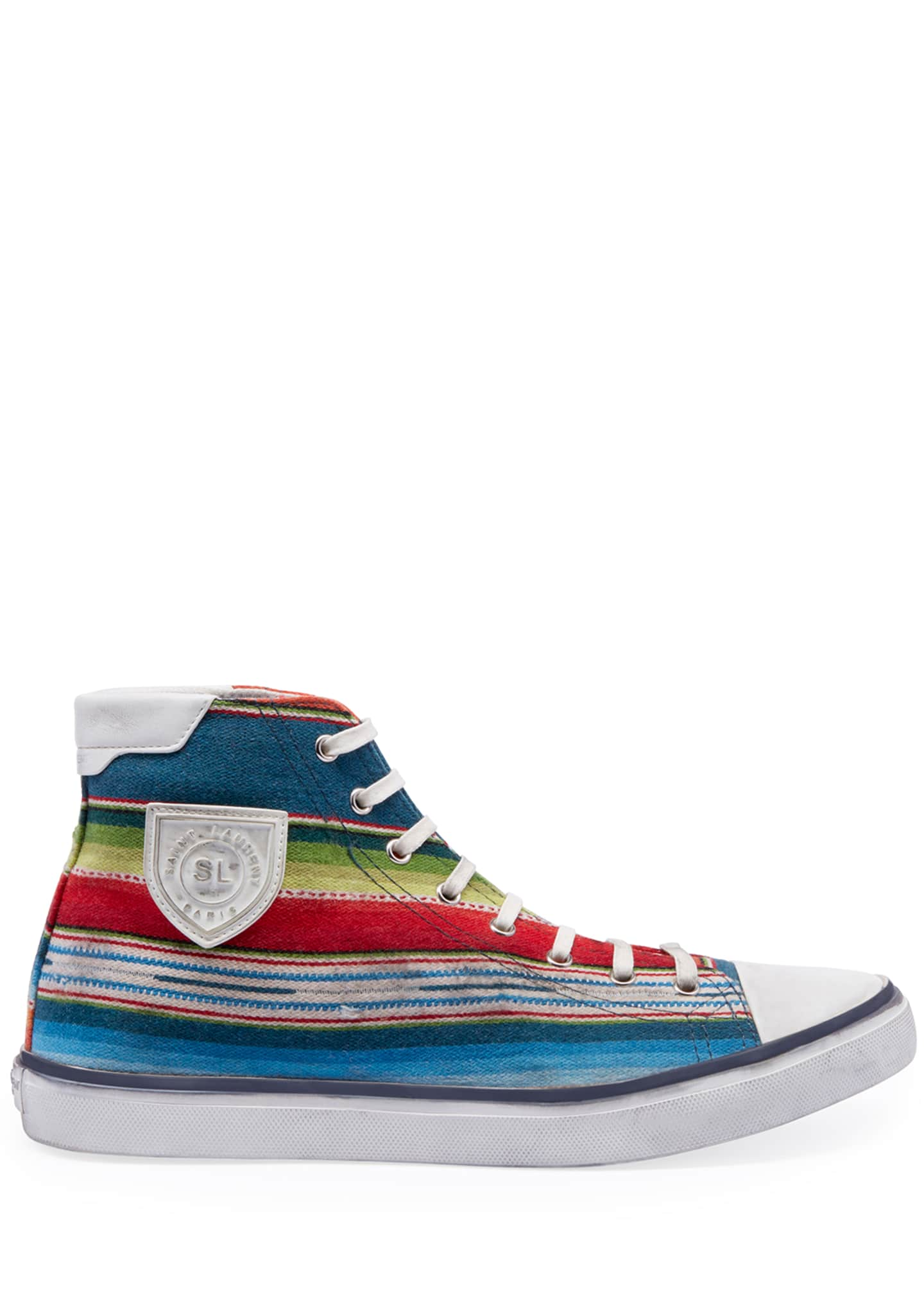Image 2 of 3: Men's Bedford Southwest Striped High-Top Sneakers