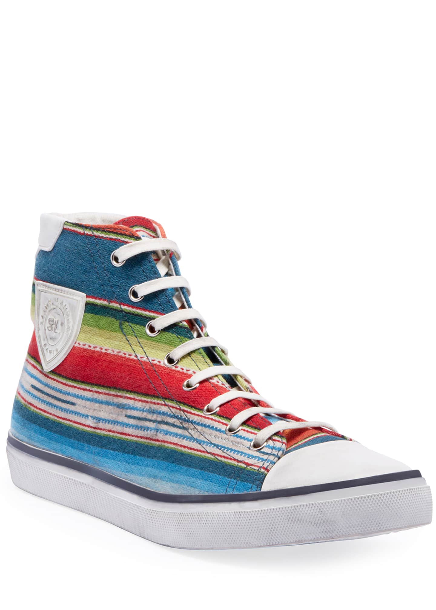 Image 1 of 3: Men's Bedford Southwest Striped High-Top Sneakers