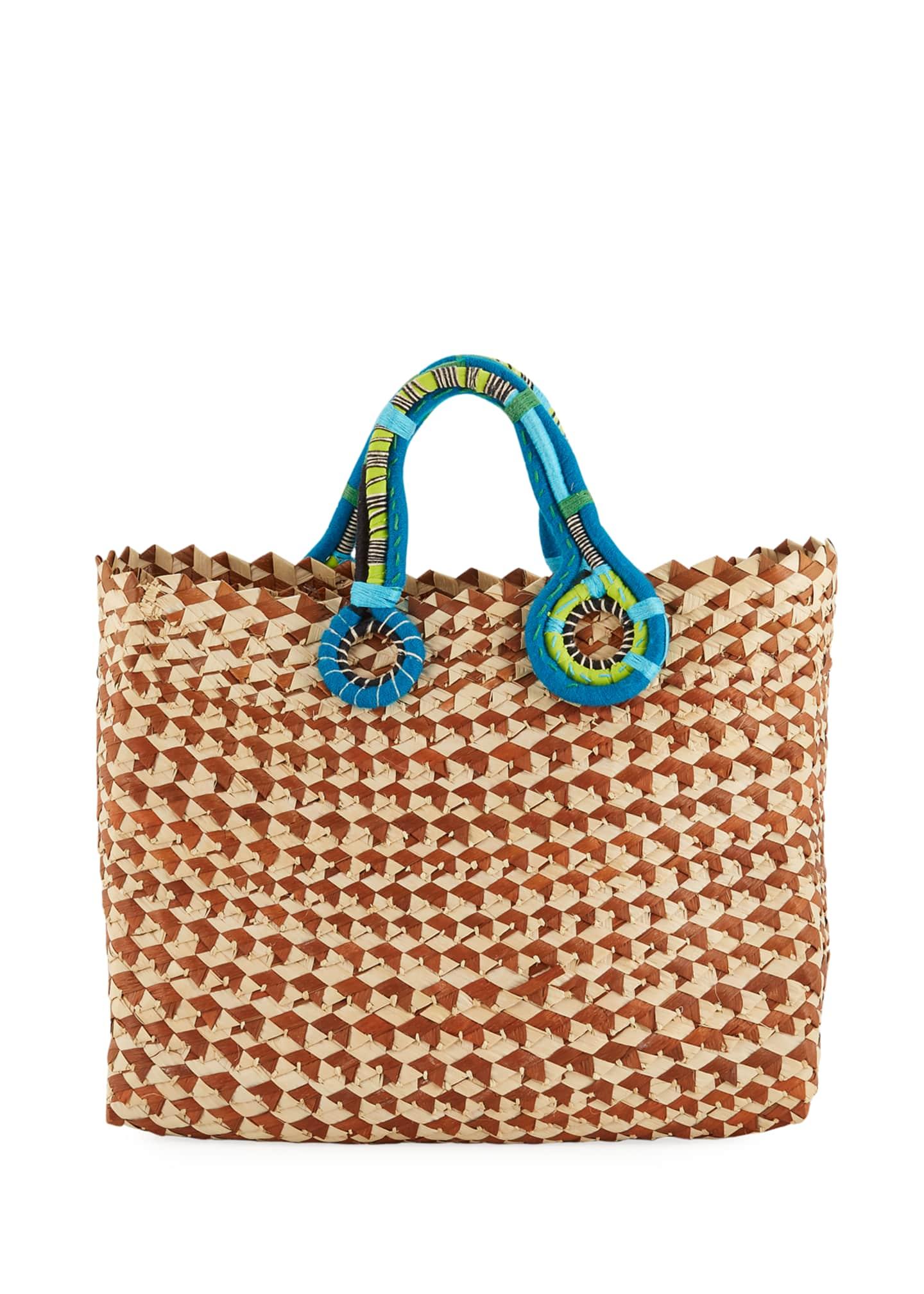 Nannacay - Cotio Belle Woven Colorblock Tote Bag