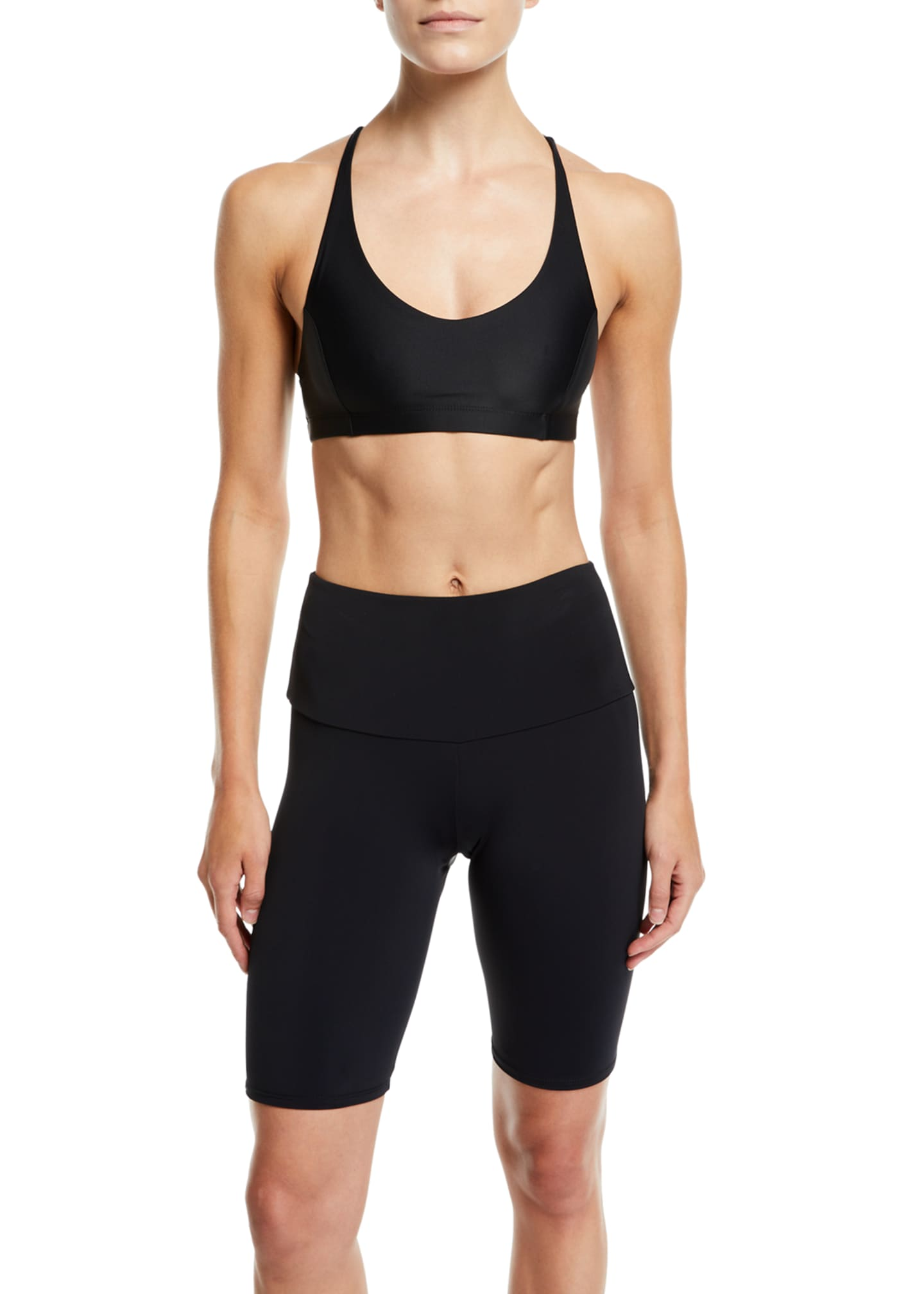 Image 3 of 3: High-Rise Activewear Bike Shorts
