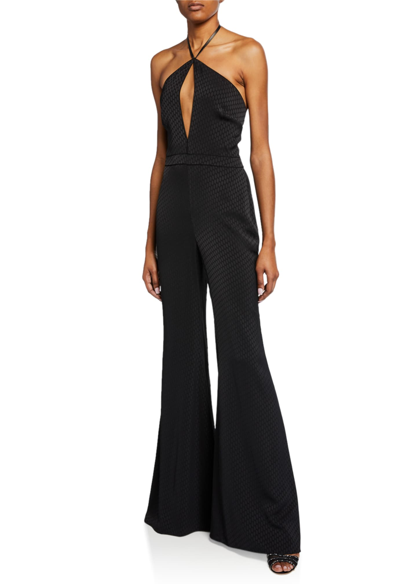 Image 1 of 2: Naila Wide-Leg Halter Jumpsuit