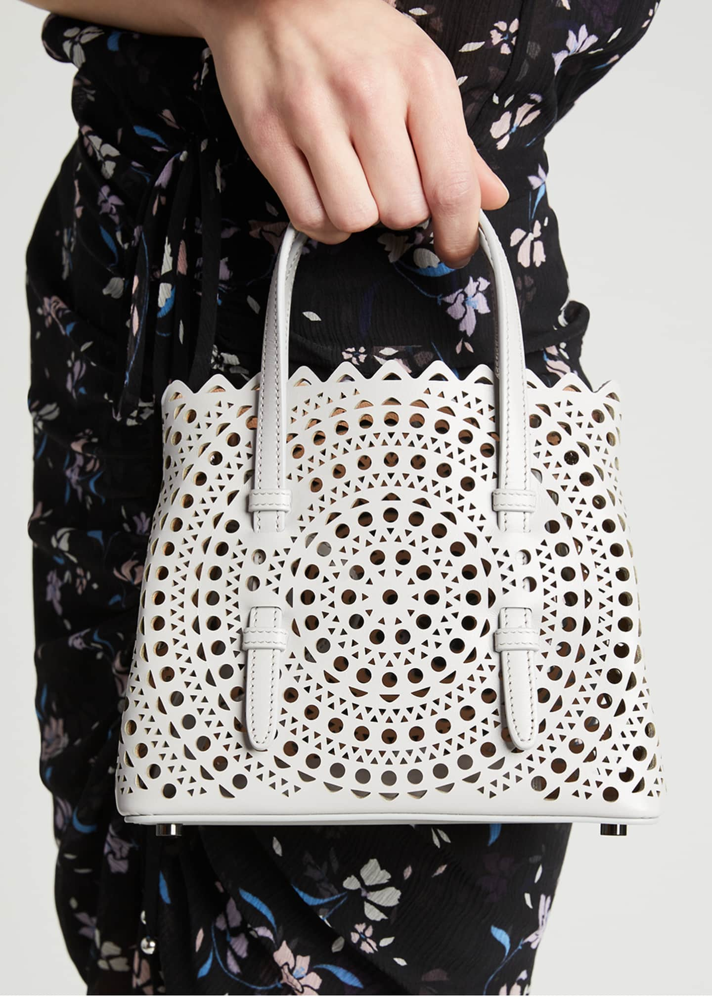 Image 2 of 5: Mina Mini Vienne Laser-Cut Tote Bag