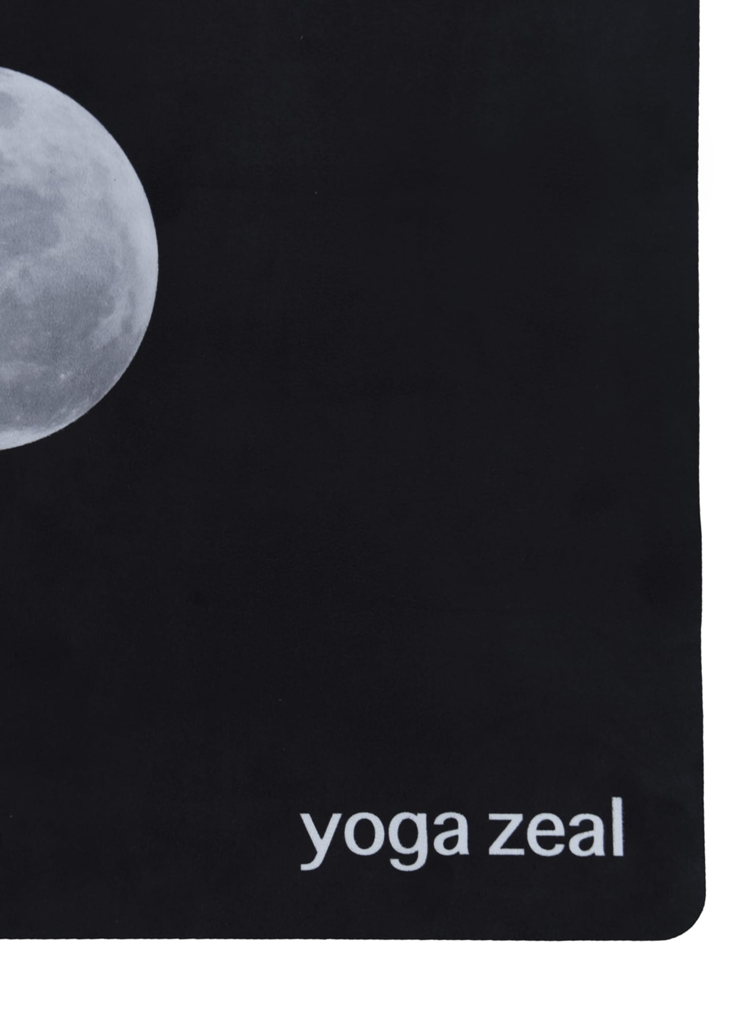 Image 3 of 3: Black Lunar Printed Yoga Mat