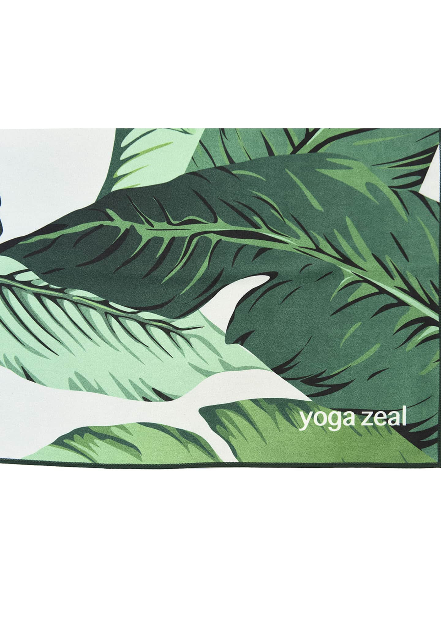 Image 2 of 3: Banana Leaf Printed Yoga Towel