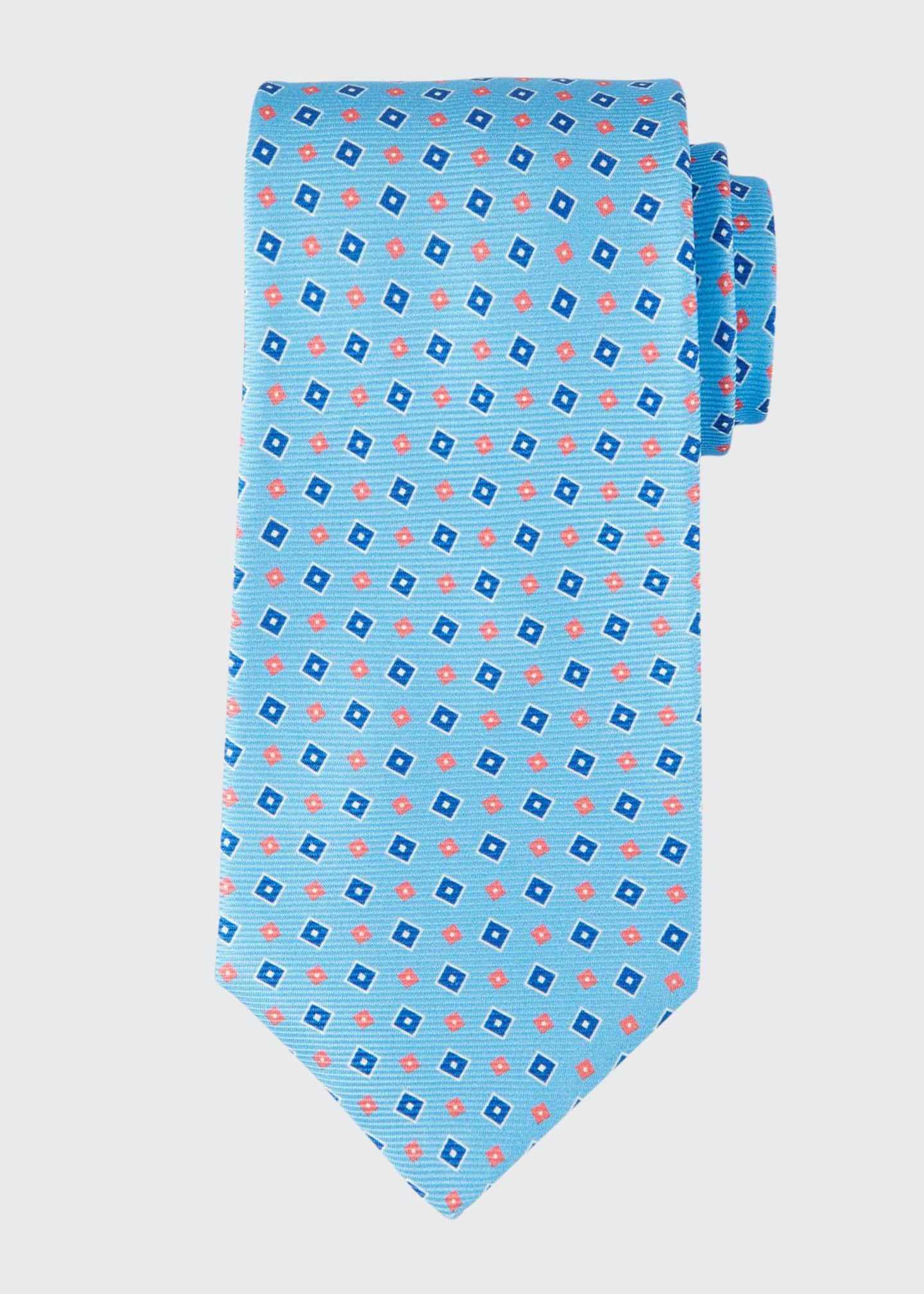 Image 1 of 1: Men's Tilted Squares Tie