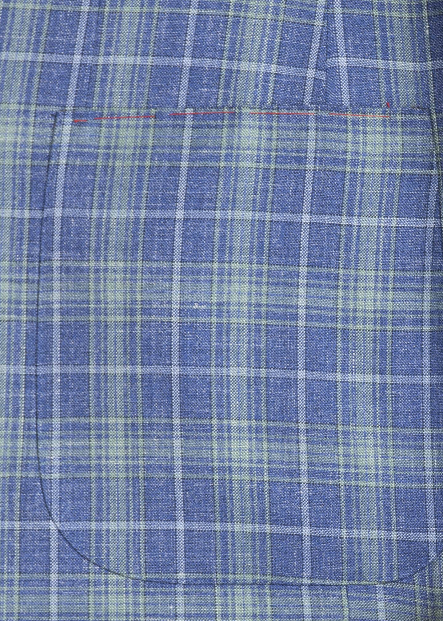 Image 4 of 4: Men's Two-Tone Plaid Two-Button Jacket